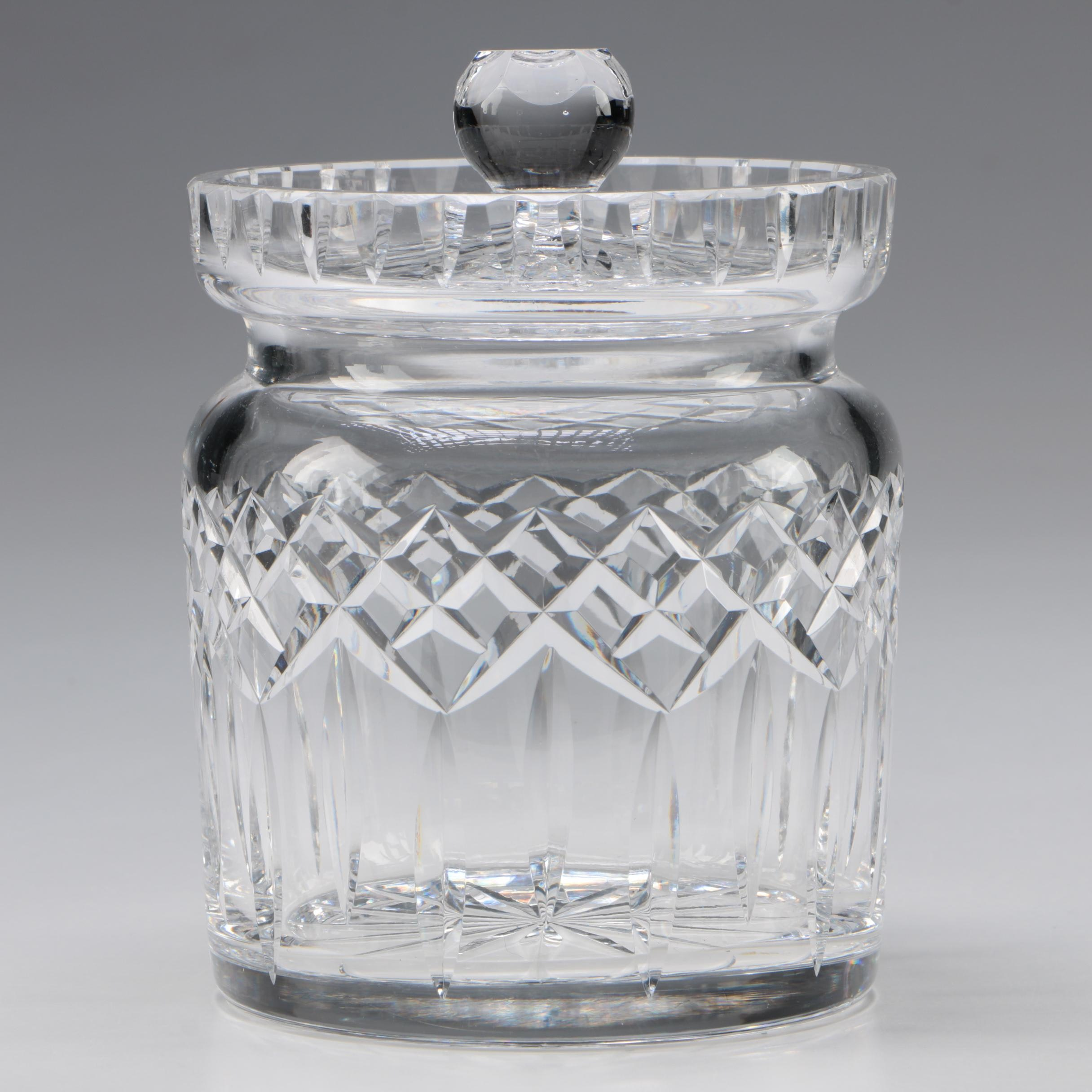 "Waterford Crystal ""Lismore"" Biscuit Barrel"