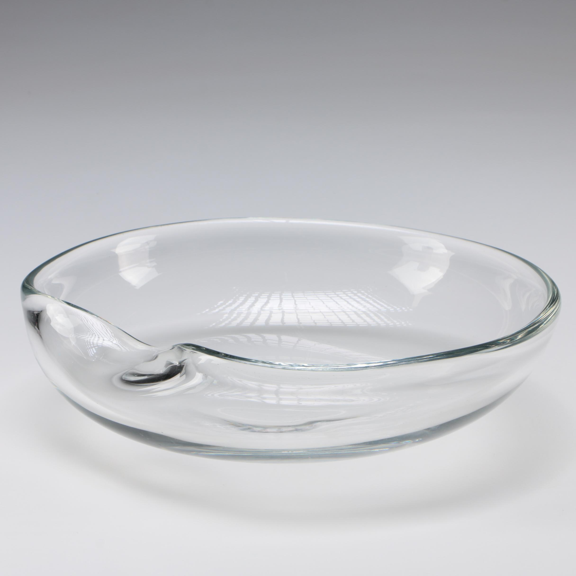 "Elsa Peretti for Tiffany & Co. Art Glass ""Thumbprint"" Bowl"
