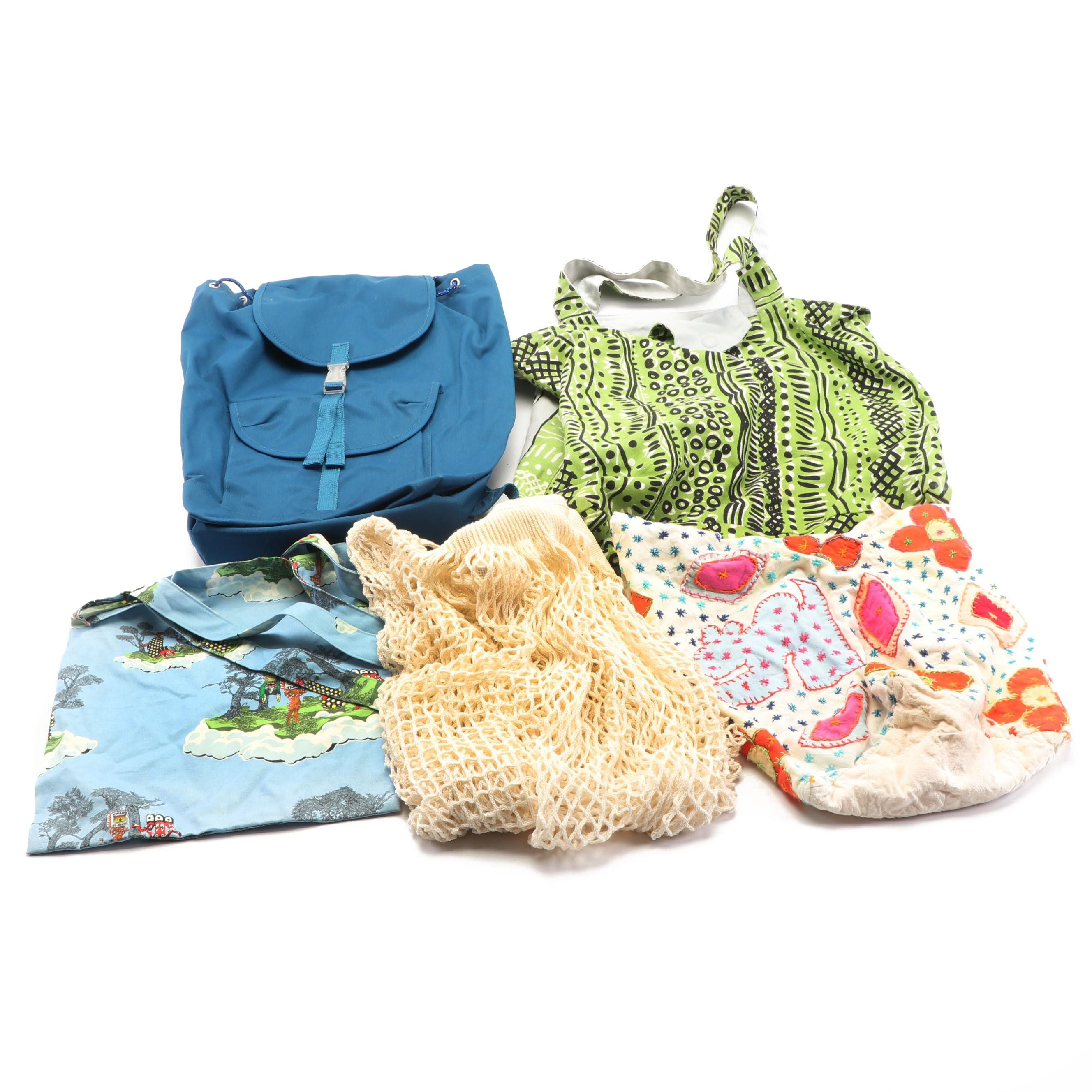 Baggu Canvas Backpack, Patterned Cloth Totes and Fit Mesh Bag
