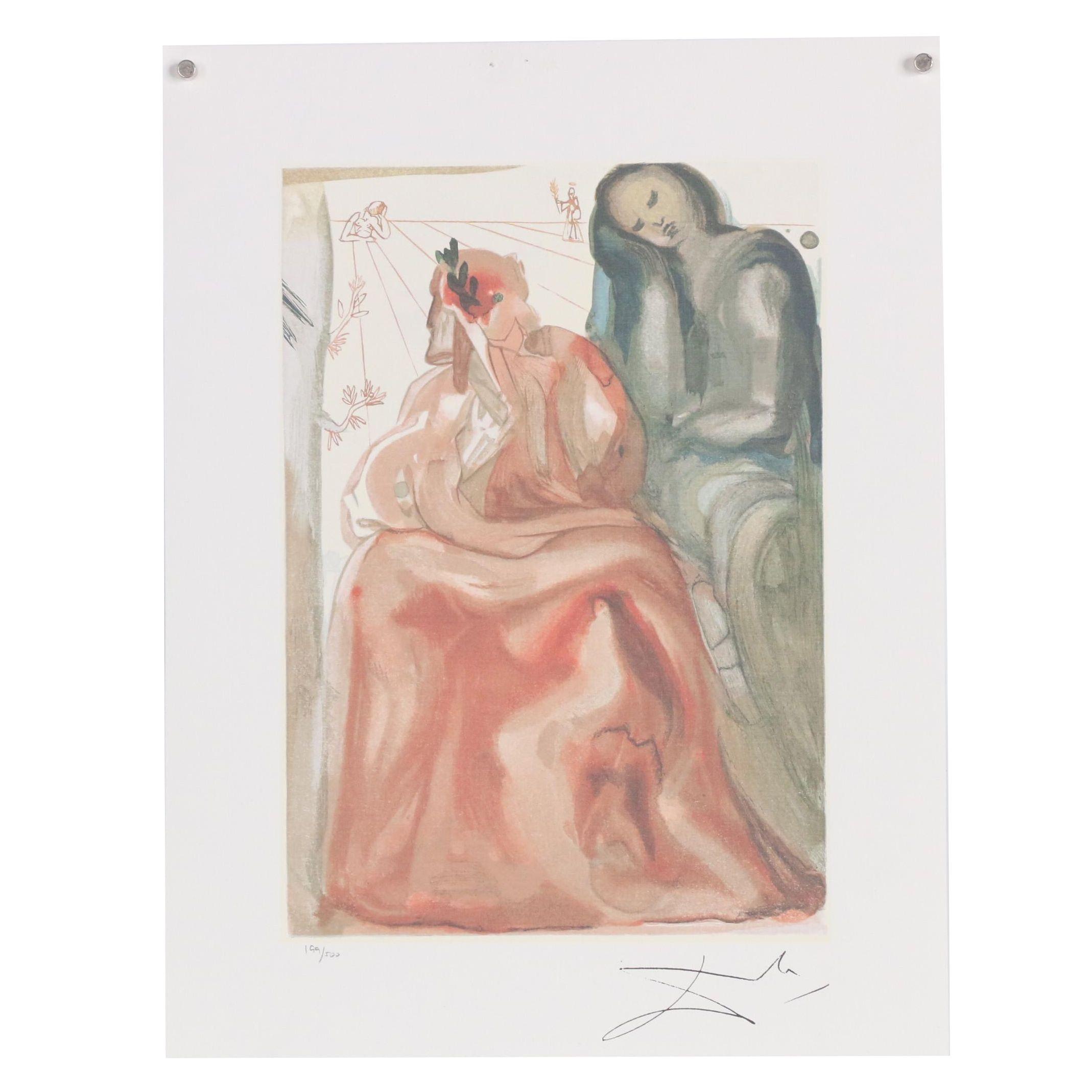 "Offset Lithograph after Salvador Dalí ""Reawakening of Dante"""