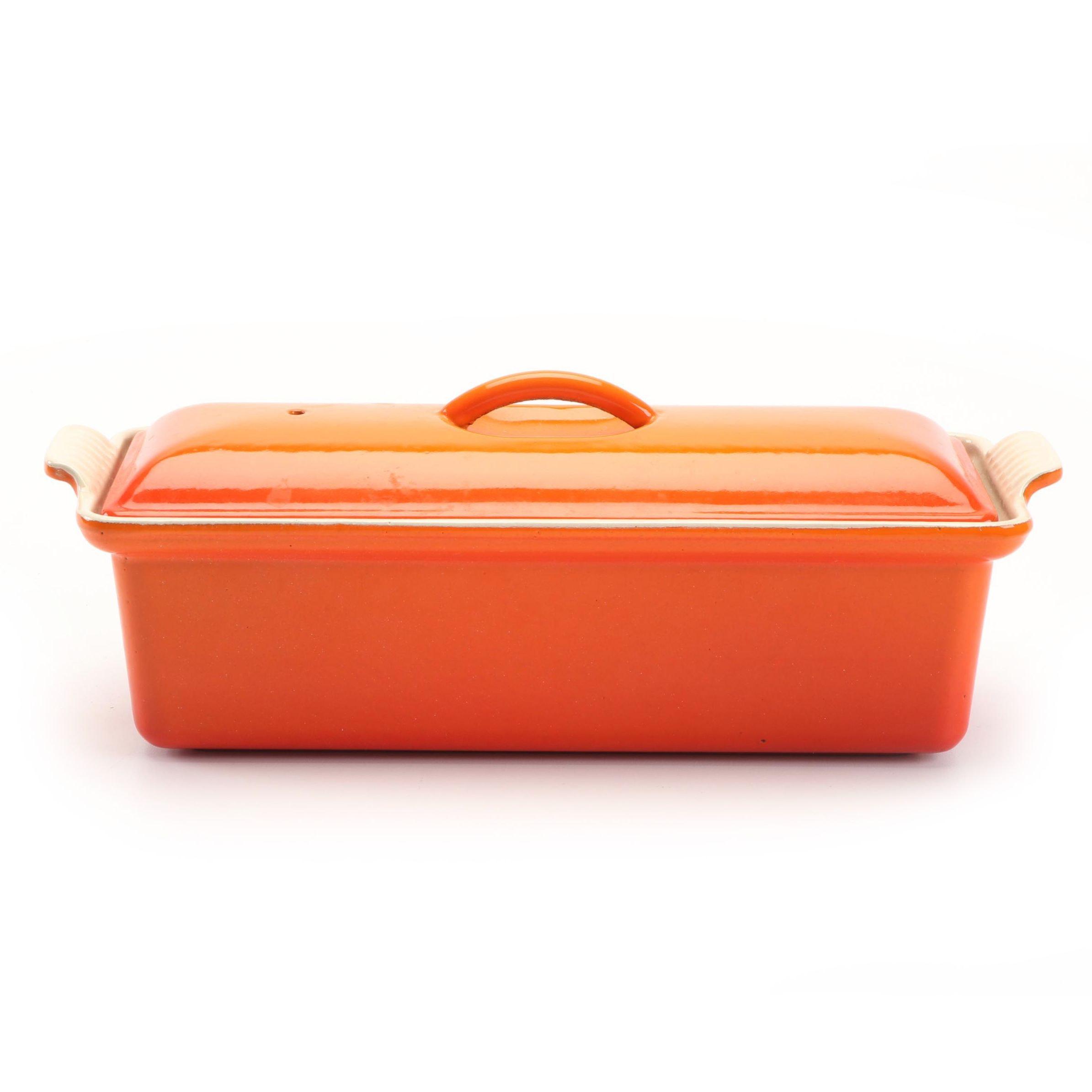 Le Creuset Orange Enameled Stoneware Baking Dish