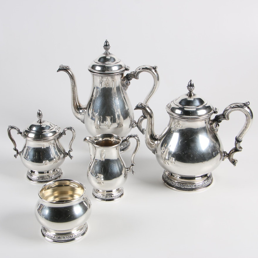 International Silver Prelude Sterling Coffee And Tea Set