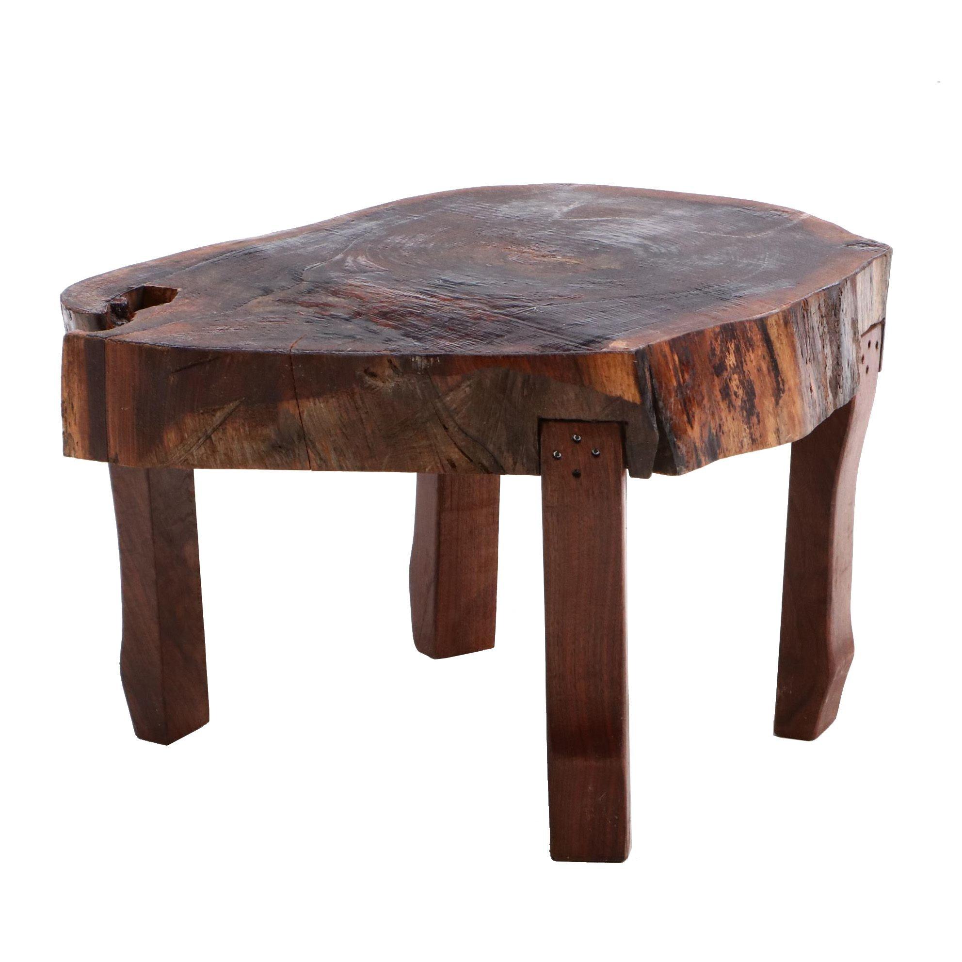 Benchmade Living Edge Walnut Coffee Table