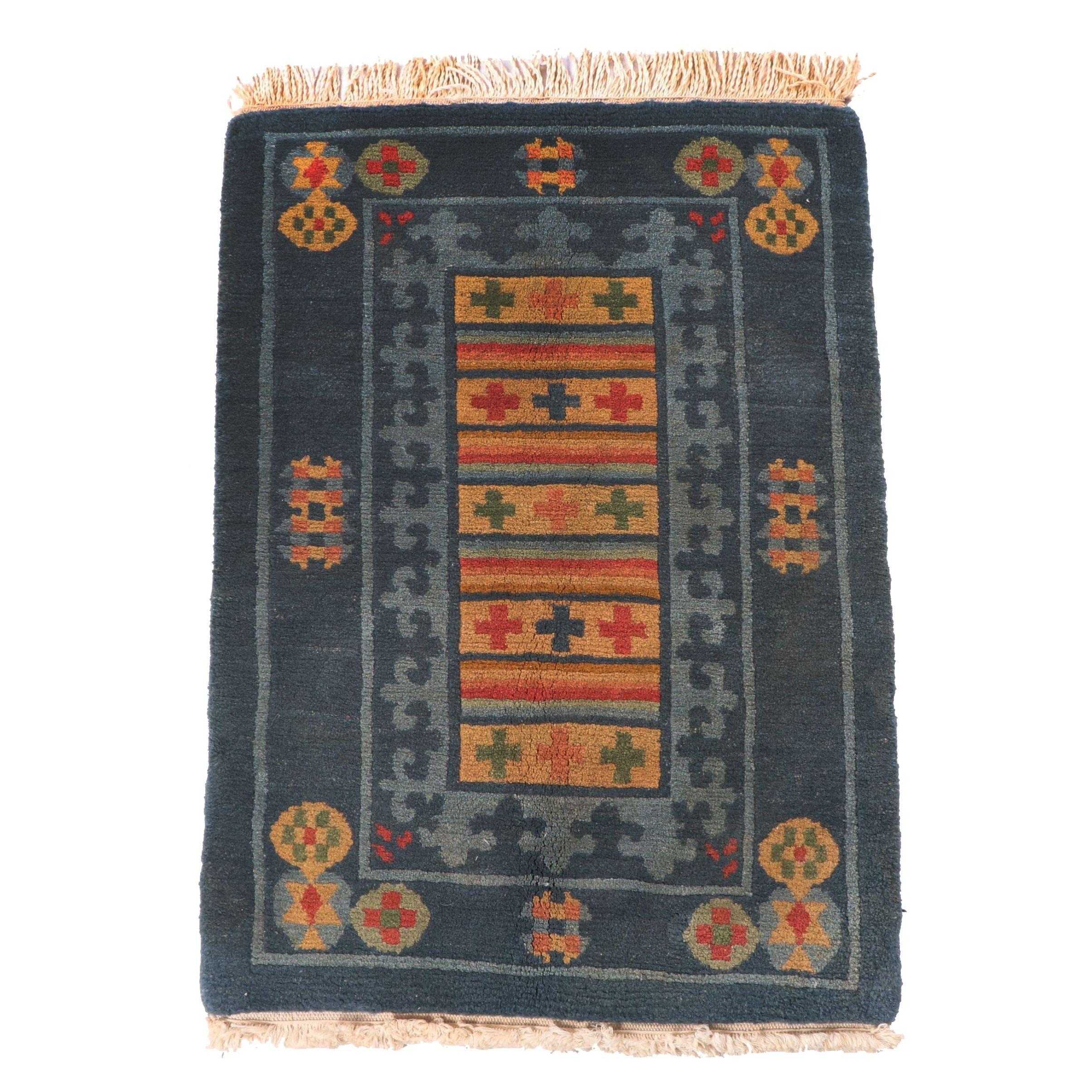 Hand-Knotted Tibetan Gangchen Carpets Wool Rug