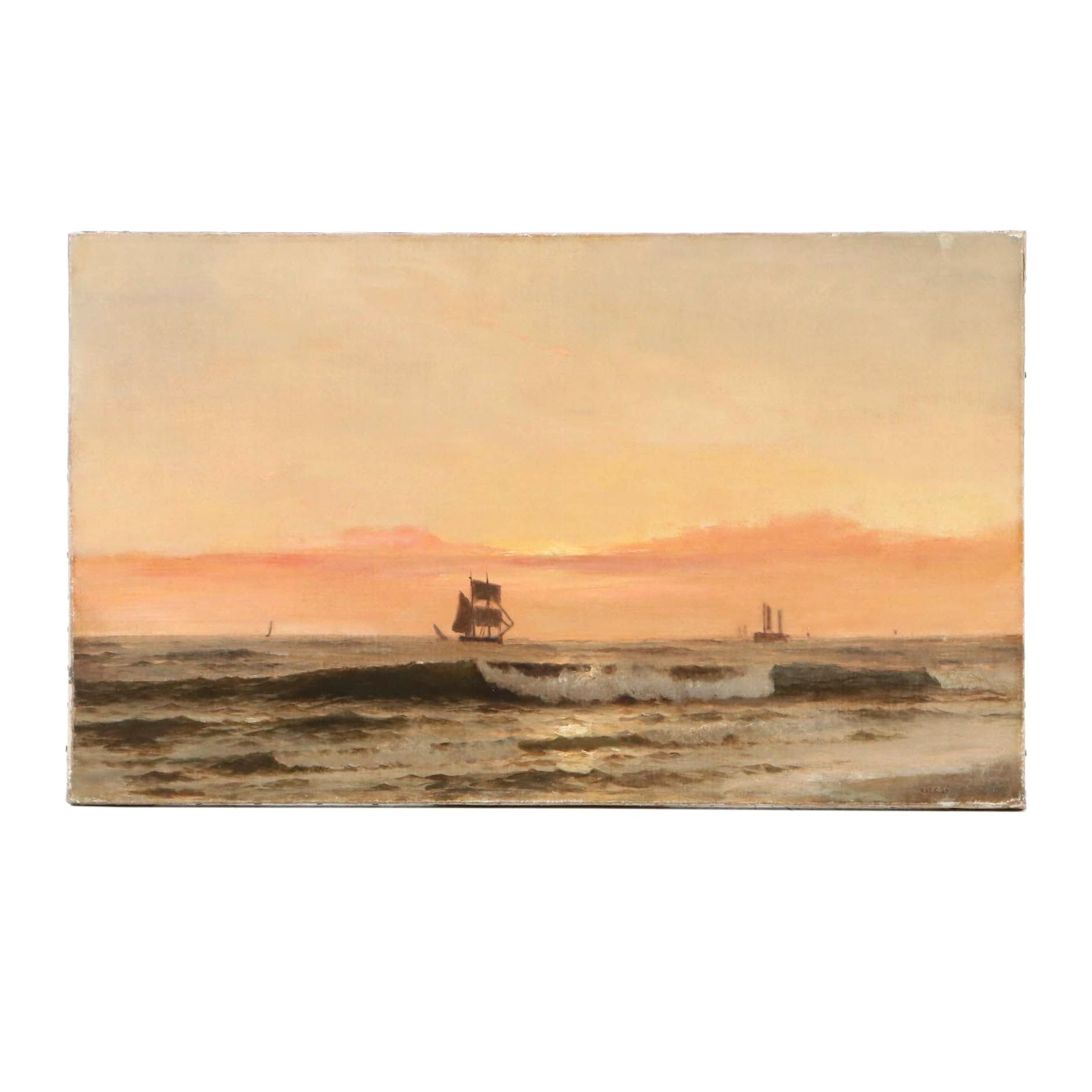 Late 19th Century Seascape Oil Painting