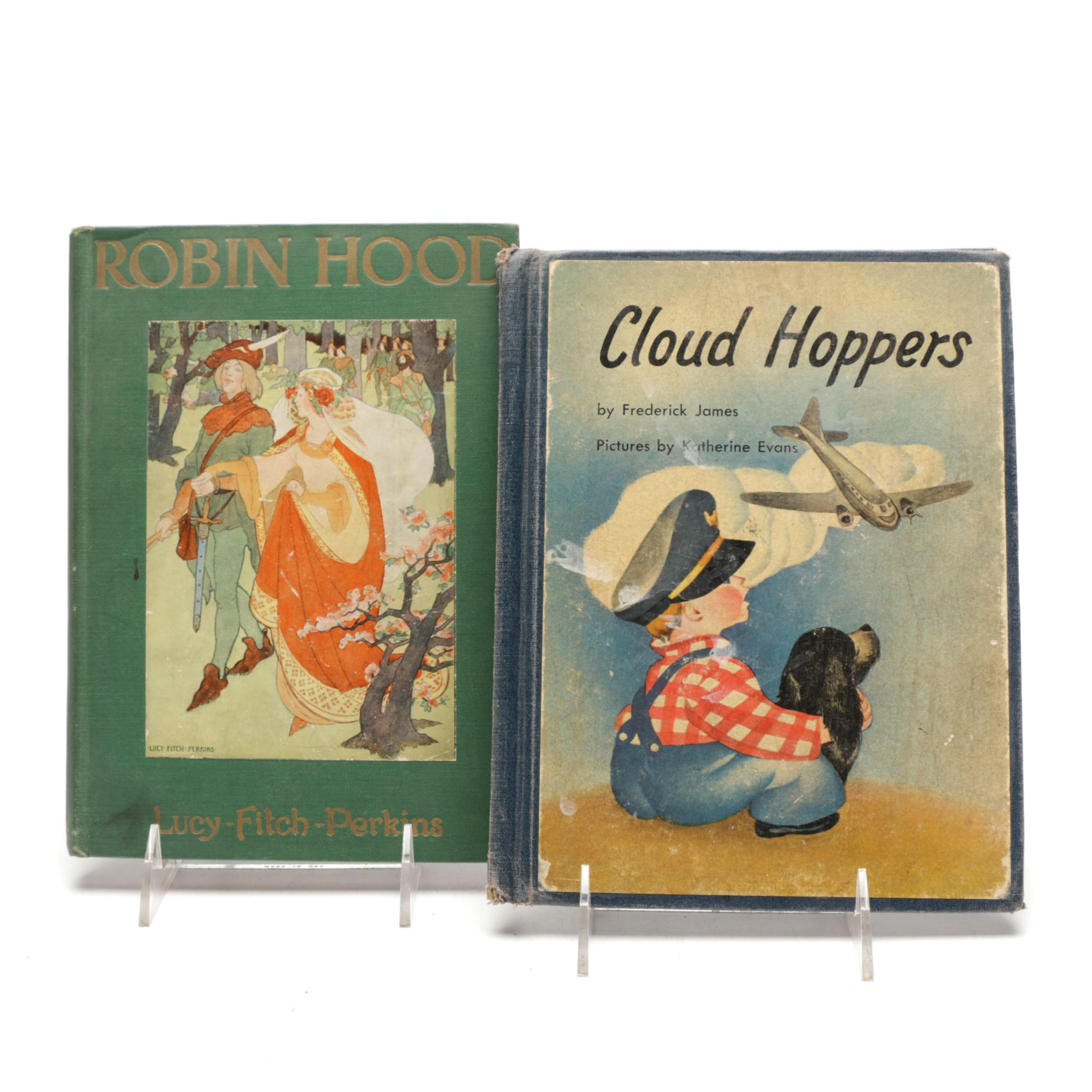 """Vintage """"Cloud Hoppers"""" and """"Robin Hood"""" Children's Books"""