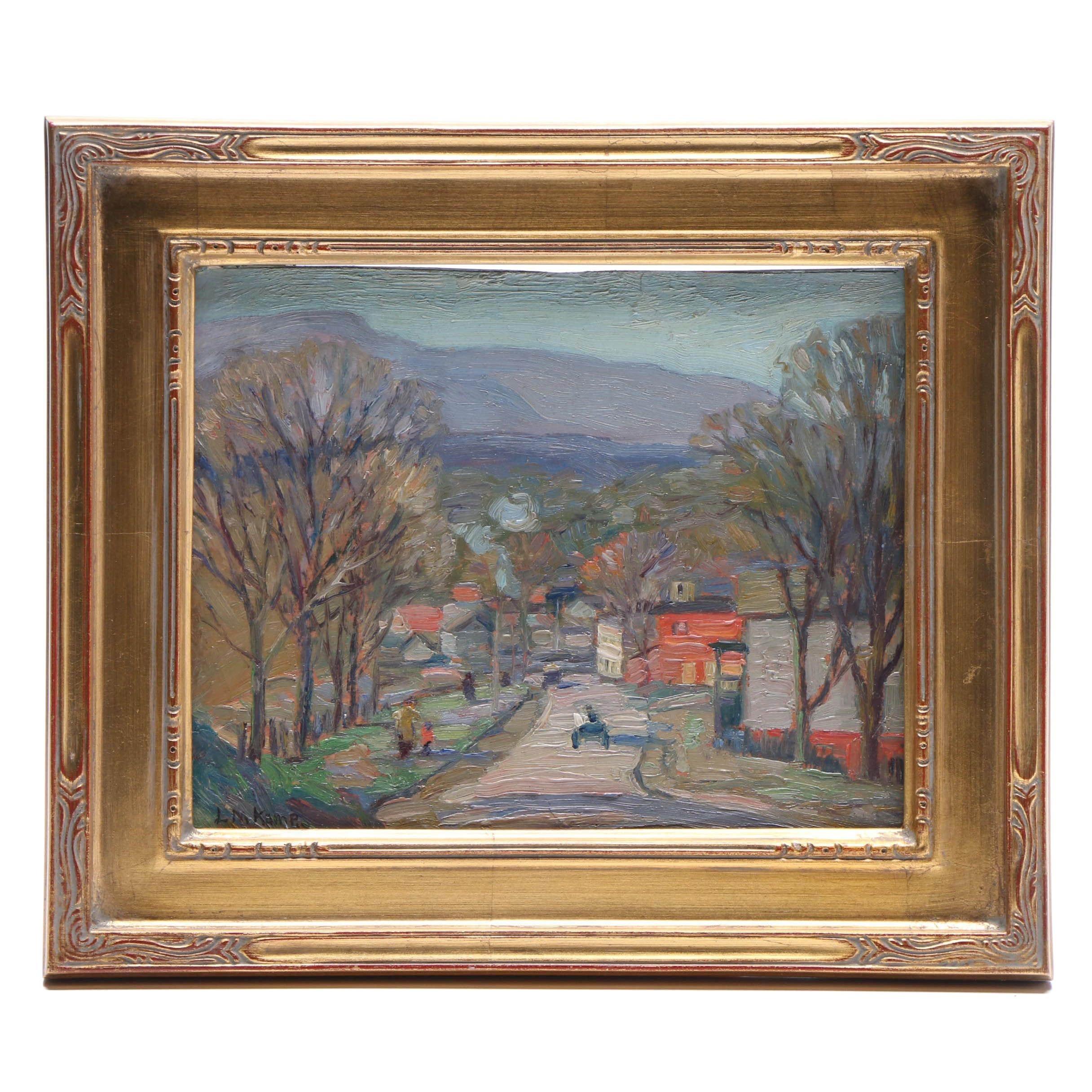 Louise M. Kamp Impressionist Oil Painting