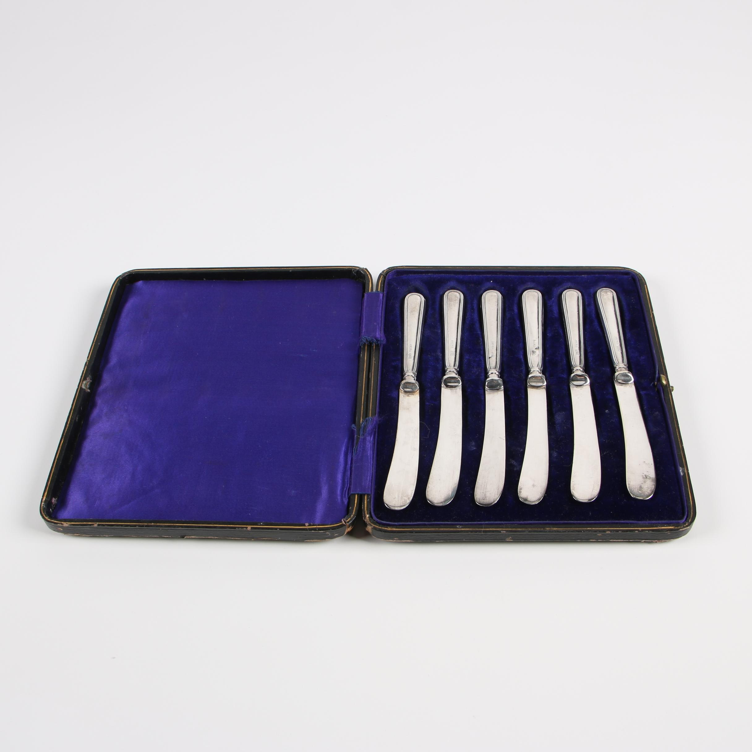 Robert Pringle & Sons Sterling Handle Butter Knife Set, 1923