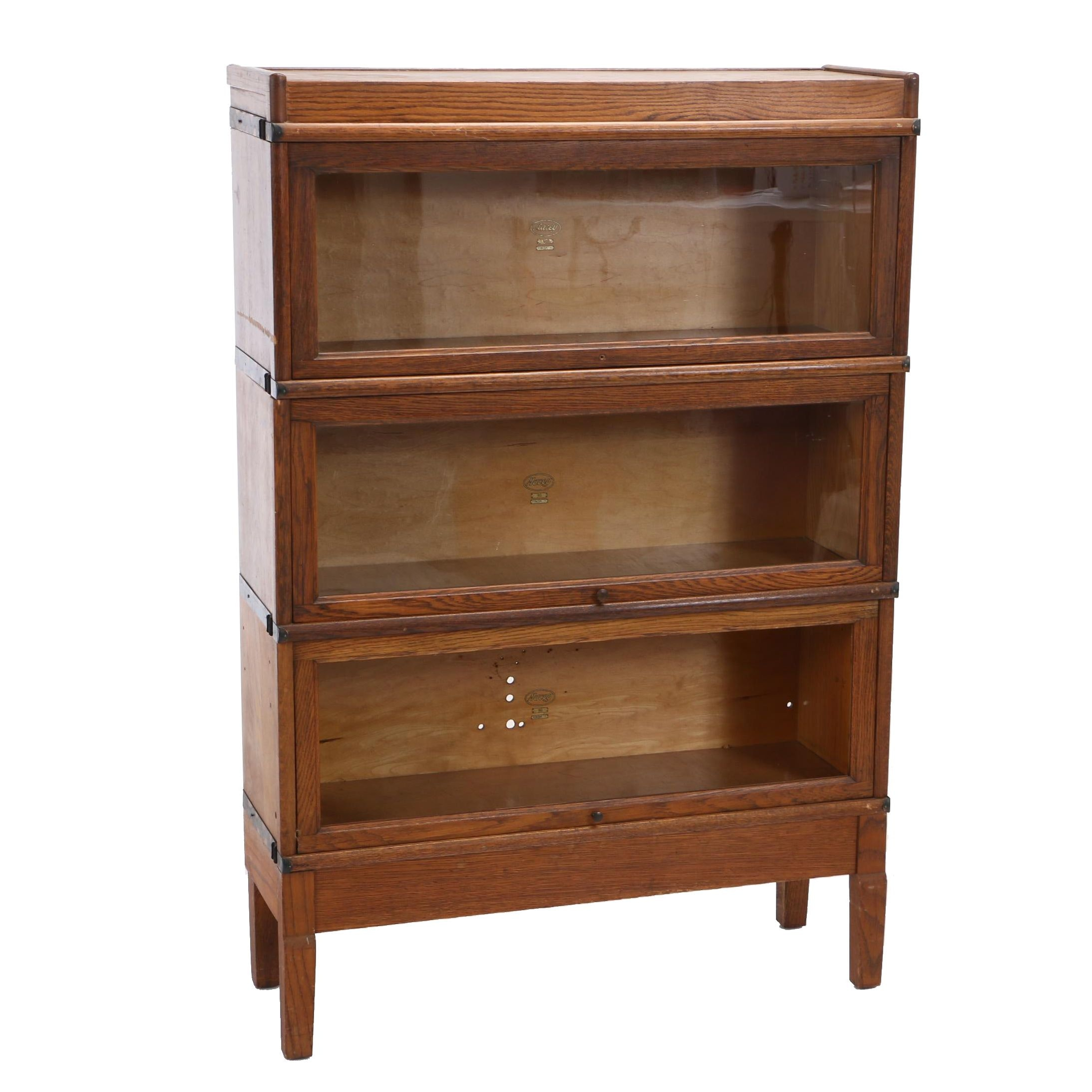 Oak Three-Section Stacking Bookcase by Macey, Early 20th Century