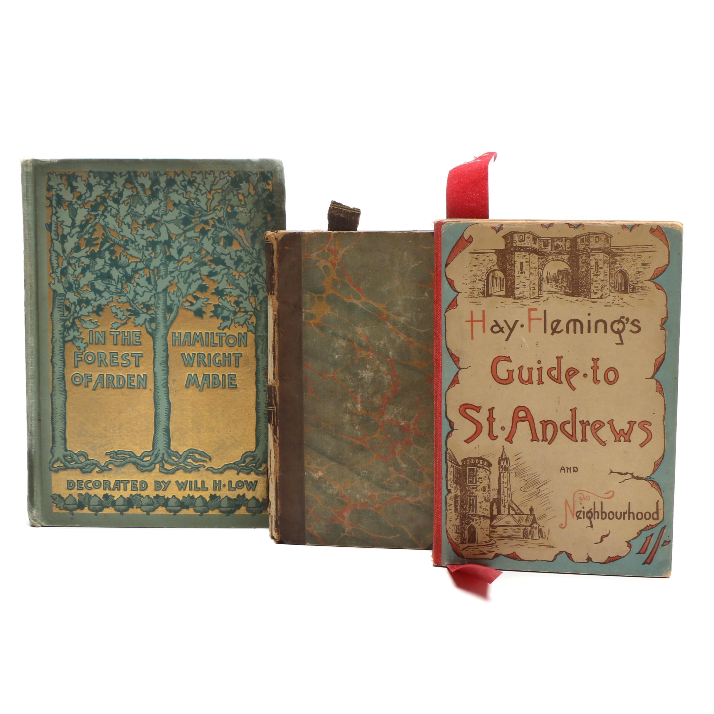 """Antique Books with """"Hay Fleming's Guide to St. Andrews and Neighbourhood"""""""