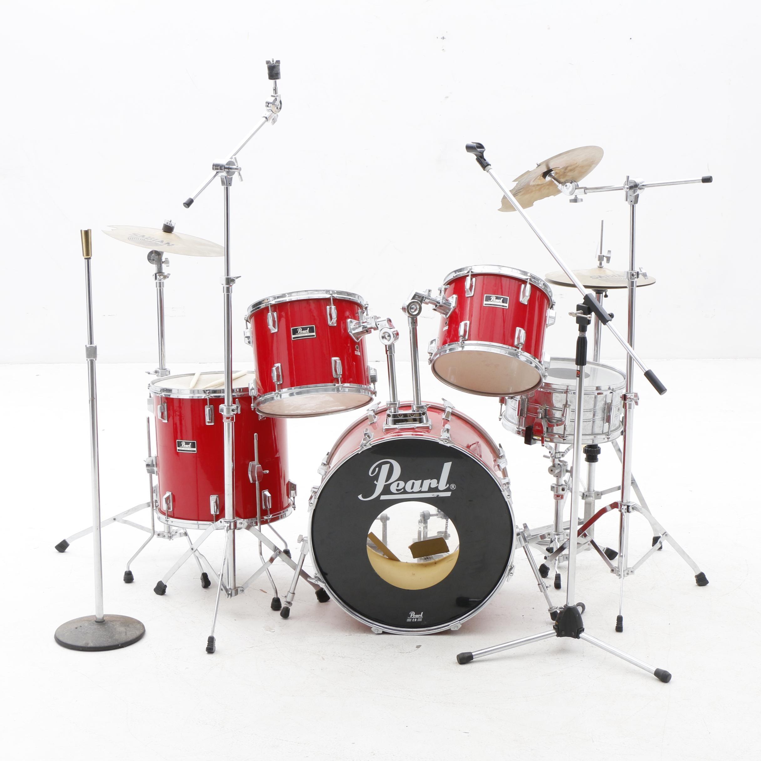 Pearl Nine Piece Drum Kit