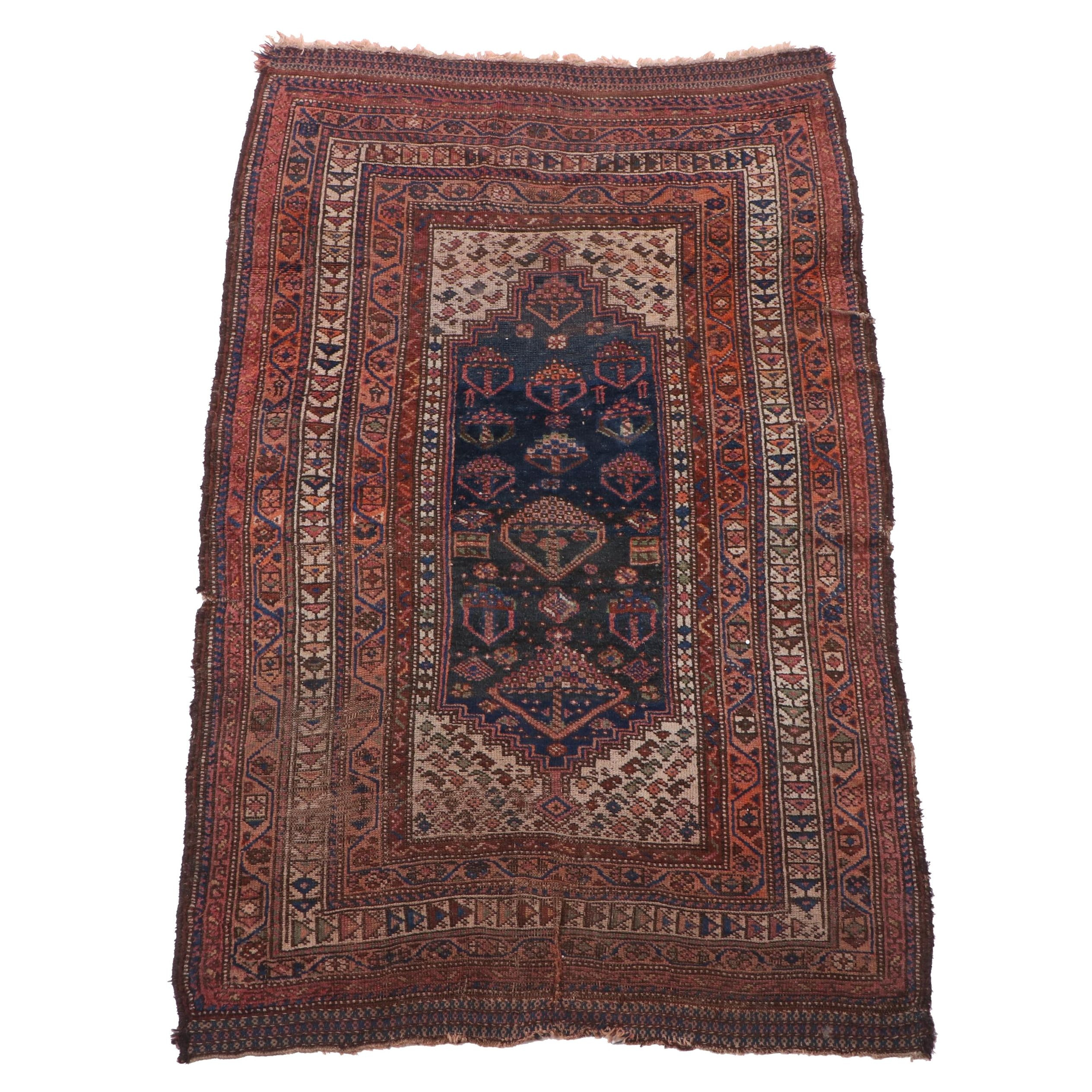 Hand-Knotted Northwest Persian Wool Rug, Late 19th - Early 20th Century