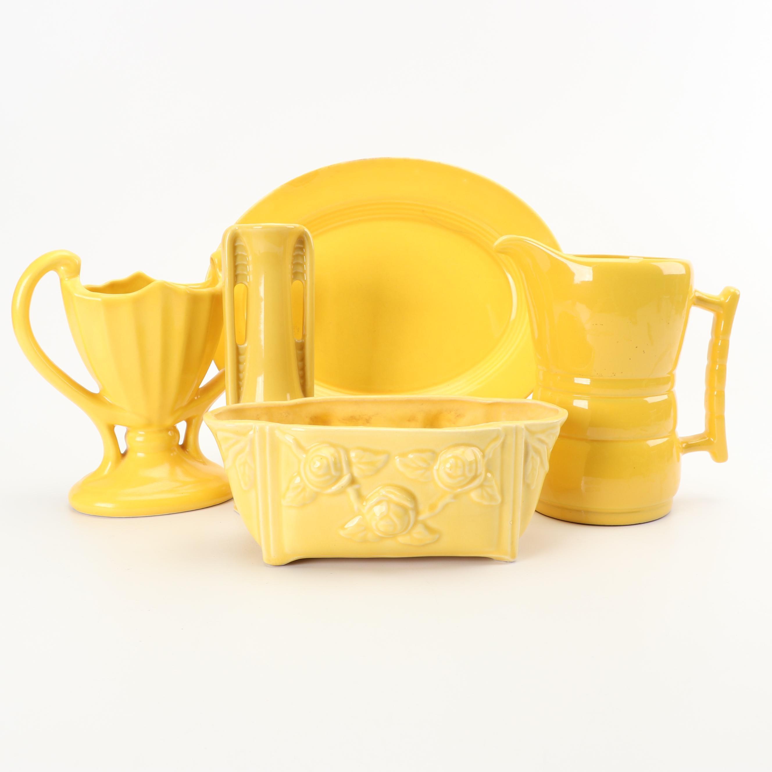Frankoma, Shawnee, Camark and Other Yellow Ceramic Pottery