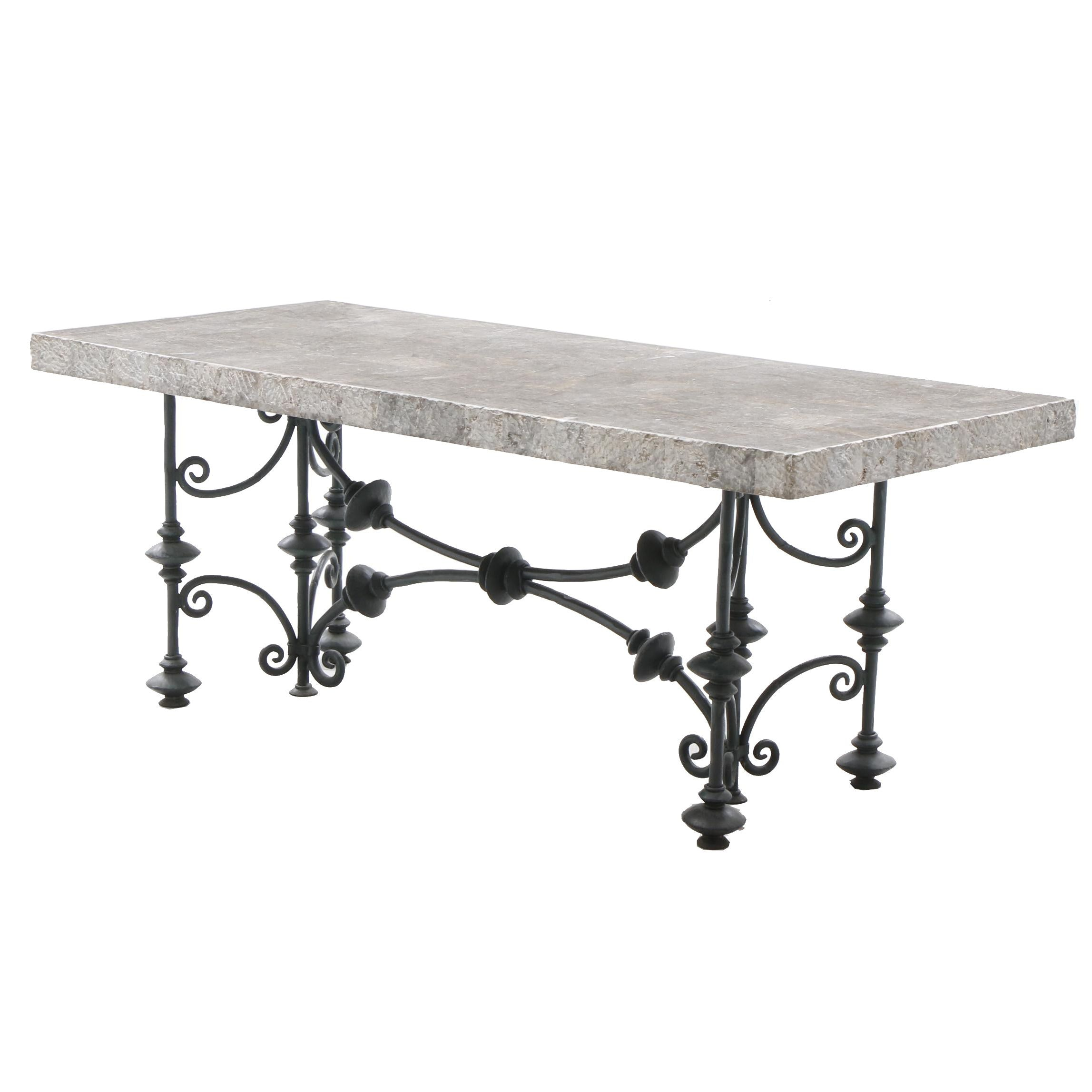 Maitland-Smith Faux Marble Top Dining Table