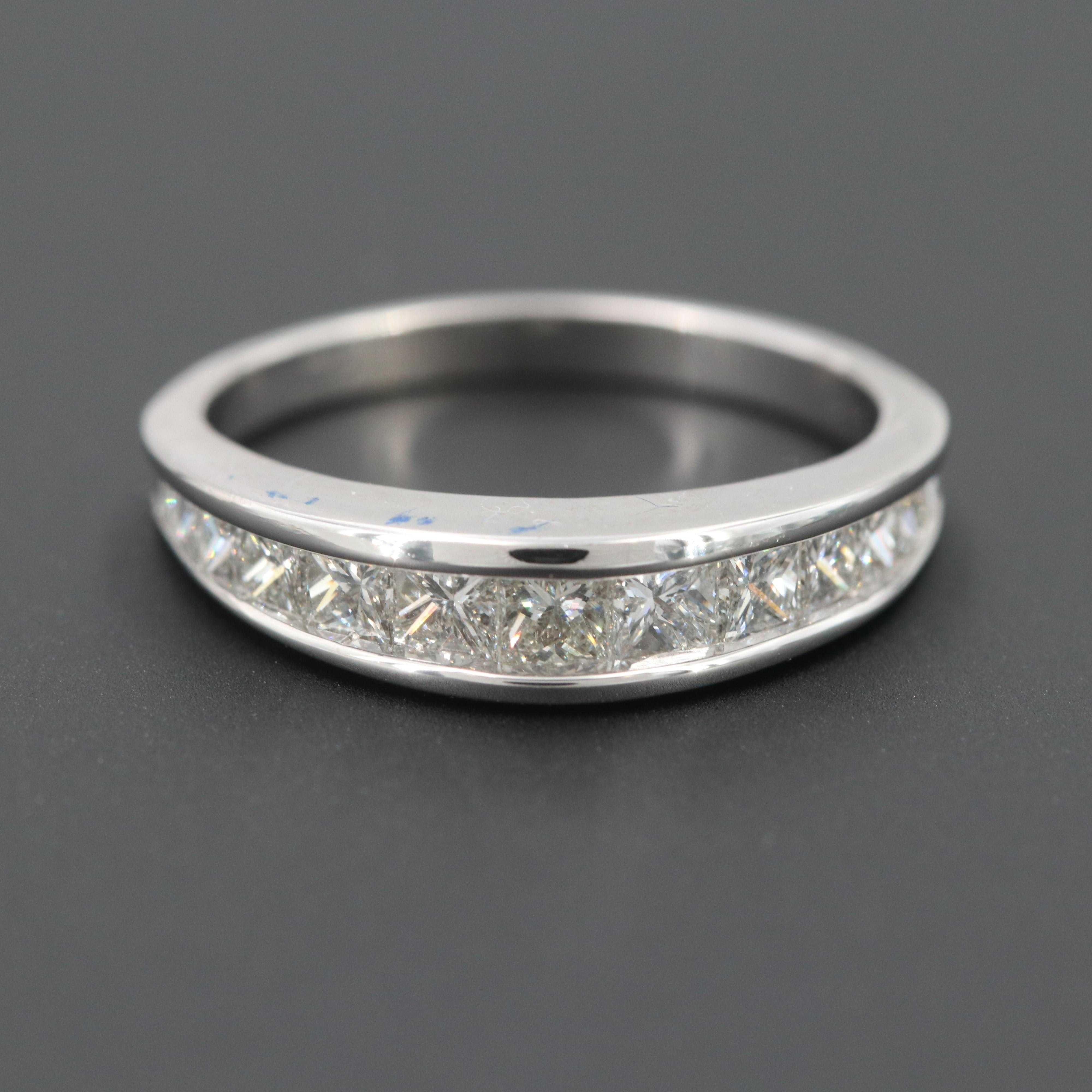 14K White Gold 0.97 CTW Diamond Ring