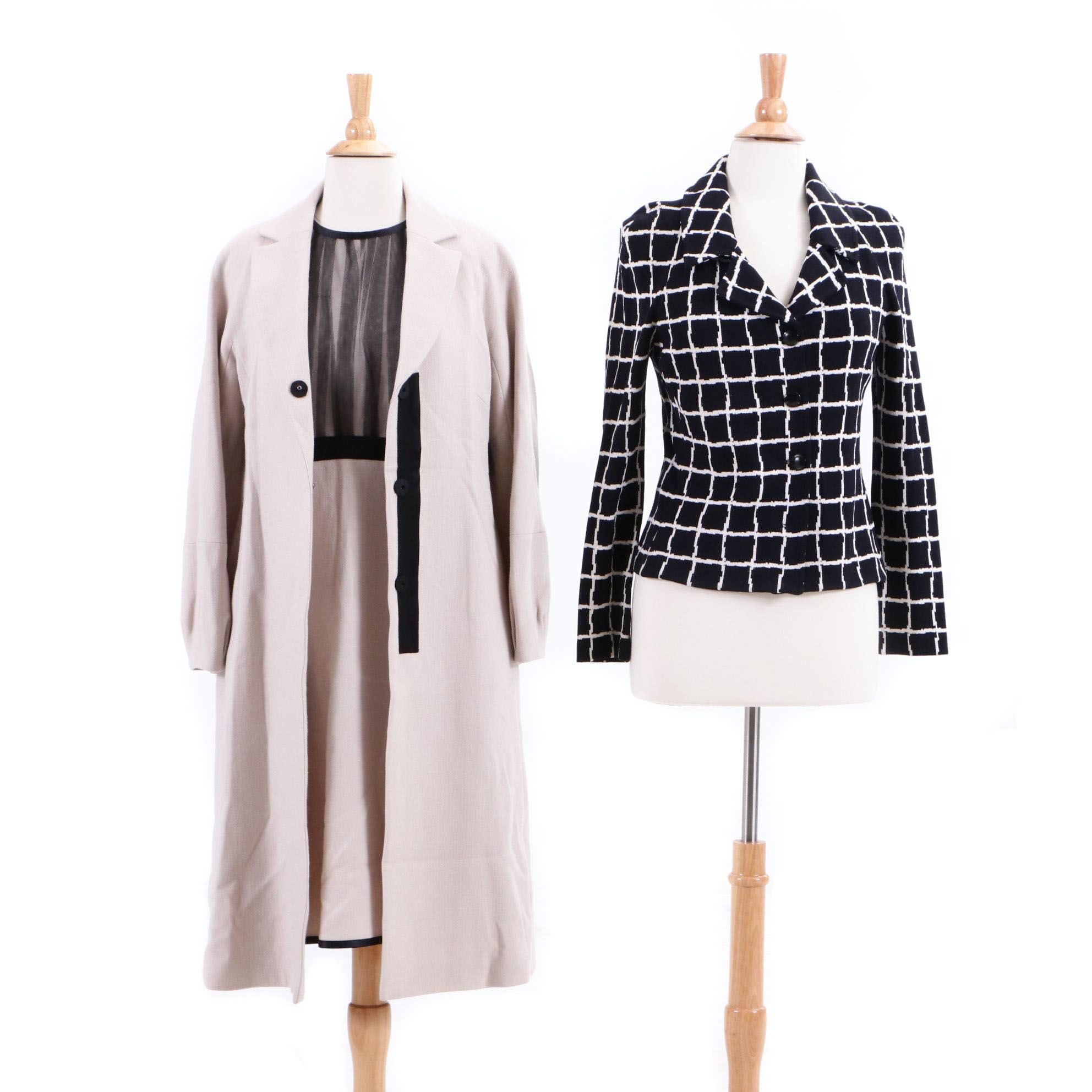 St. John Collection Knit Jacket and Lida Baday Dress with Matching Coat