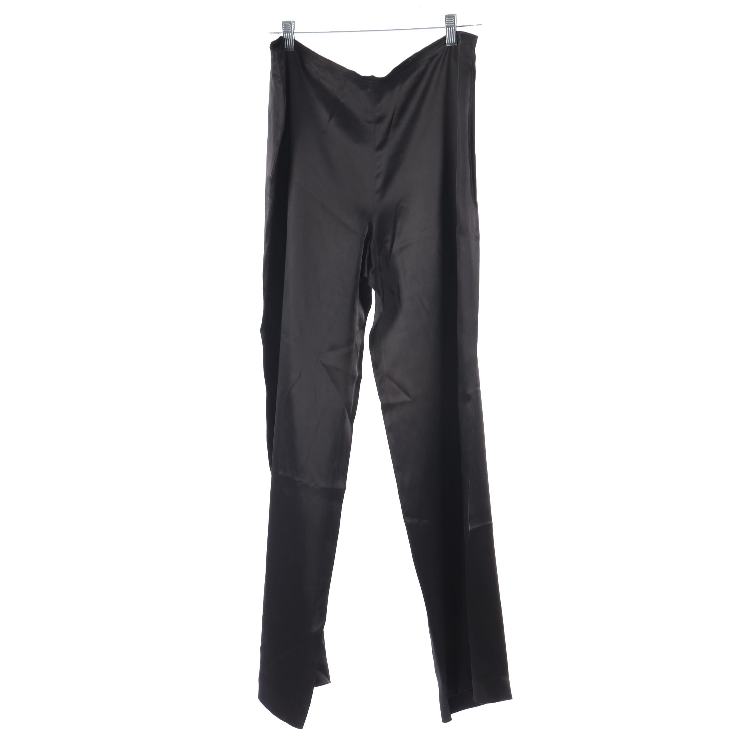 Women's Dries Van Noten Black Acetate Blend Pants, Made in Belgium