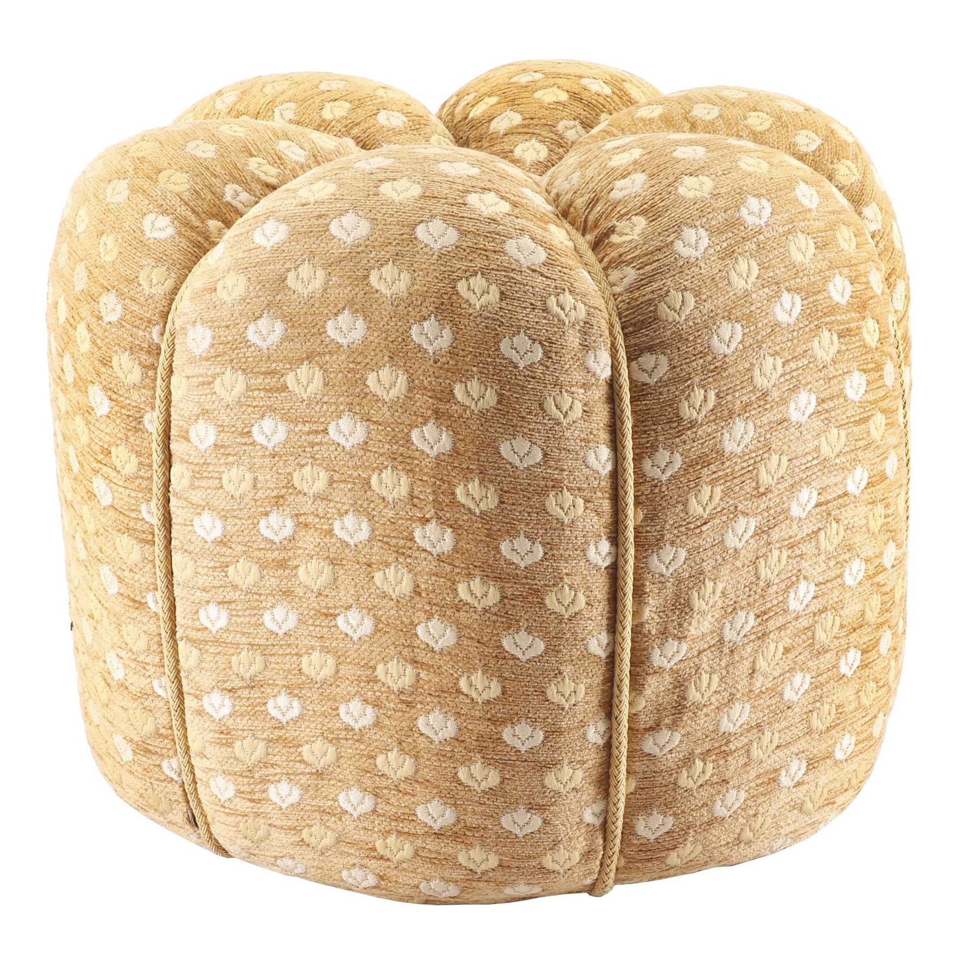 Embellished Chenille Pouf, 20th Century