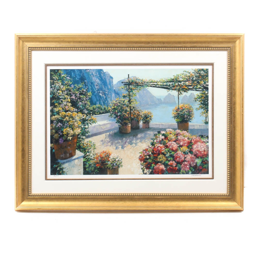 Signed Howard Behrens Limited Edition Hand-Embellished Offset Lithograph