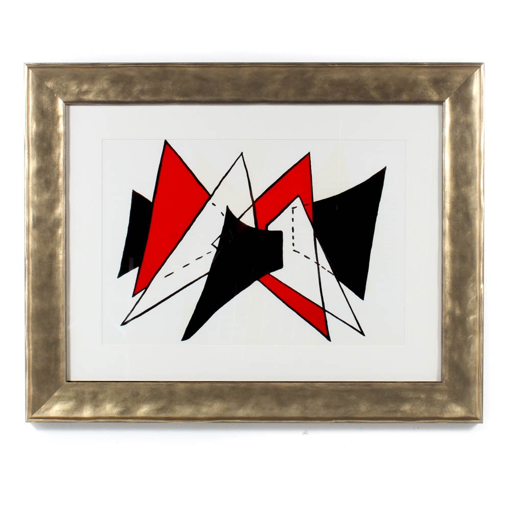 "Alexander Calder Two-Page Color Lithograph from ""Derriere le Miroir"""