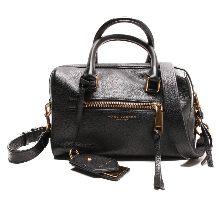 Marc Jacobs Small Bauletto Black Leather Satchel