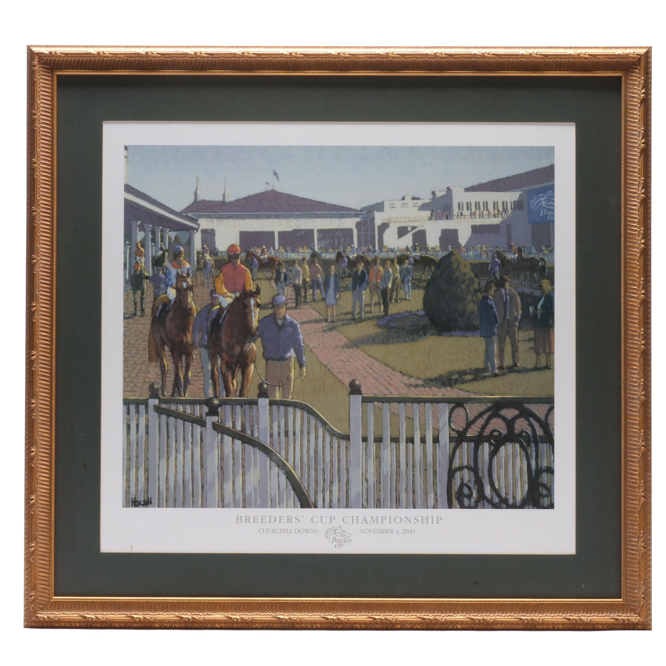 Churchill Downs 2000 Breeder's Cup Championship Commemorative Poster