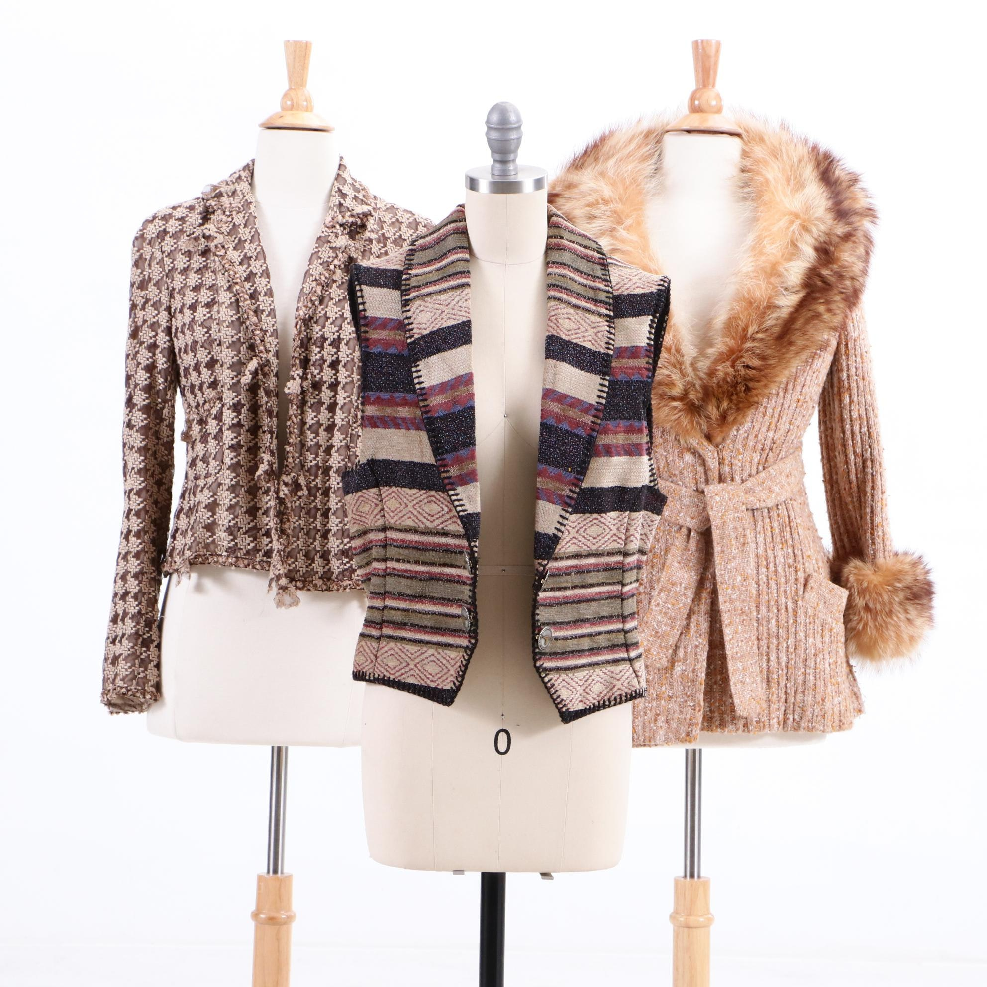 Clarendon Henry Friedricks Raccoon Fur Trimmed Jacket and Other Separates