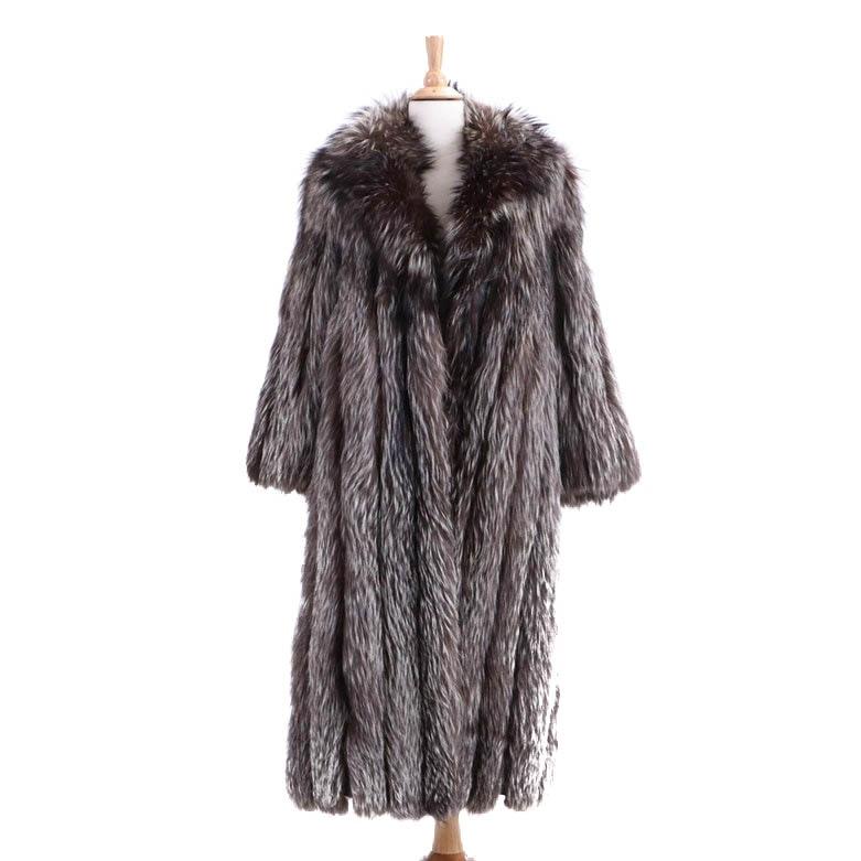 Vintage Saga Fox Silver Fox Fur Coat