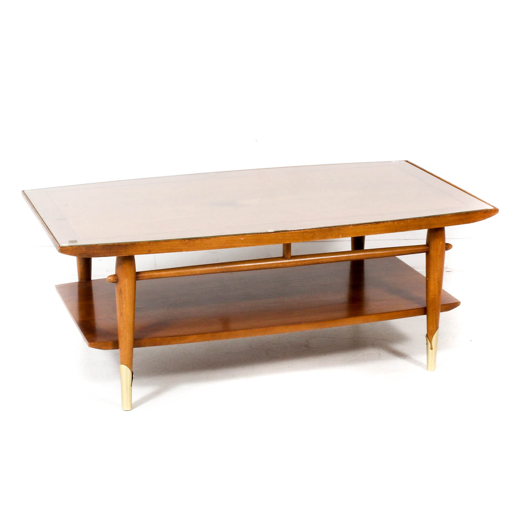 Lane Copenhagen Walnut Coffee Table, Mid Century Modern