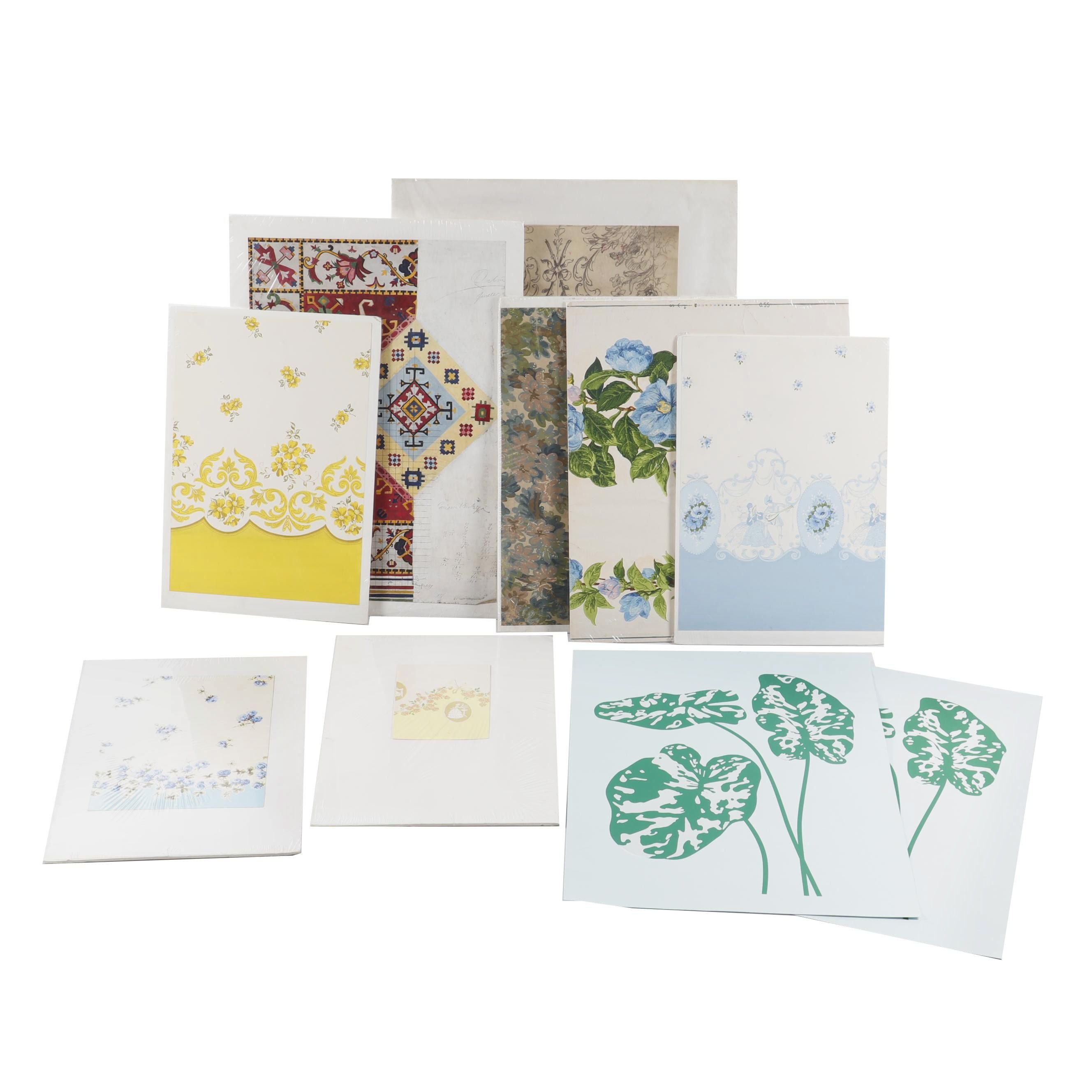 Vintage Pieces of Wallpaper and Design Proof