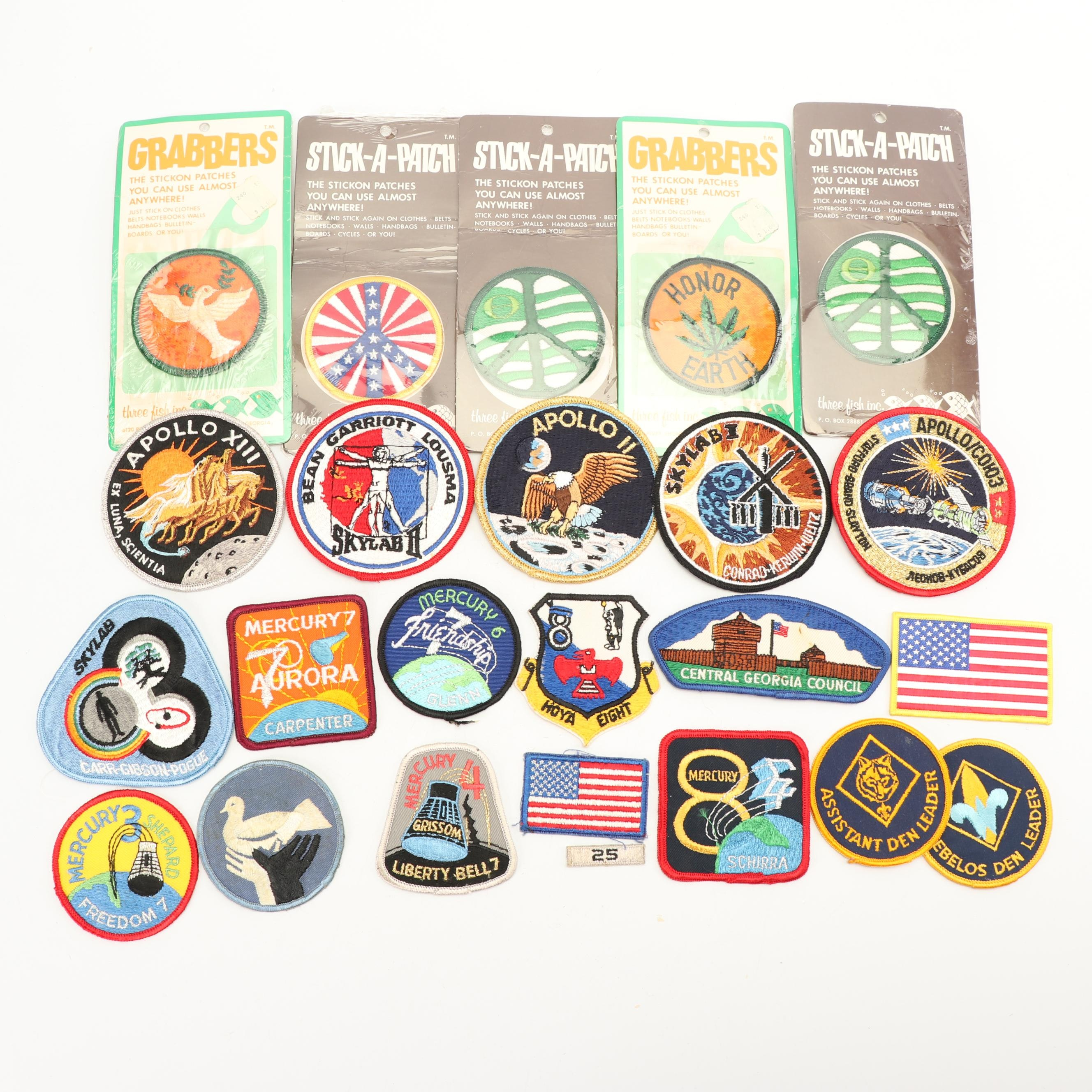 Vintage NASA and Peace Themed Patches