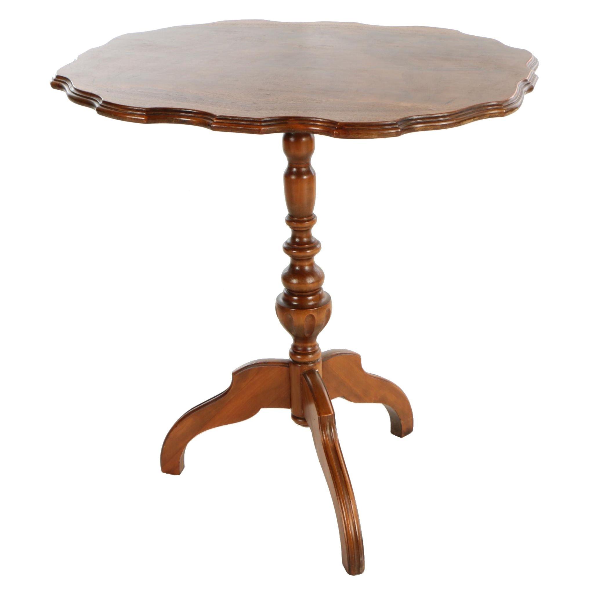 Mahogany Tilt-Top Side Table, 20th Century