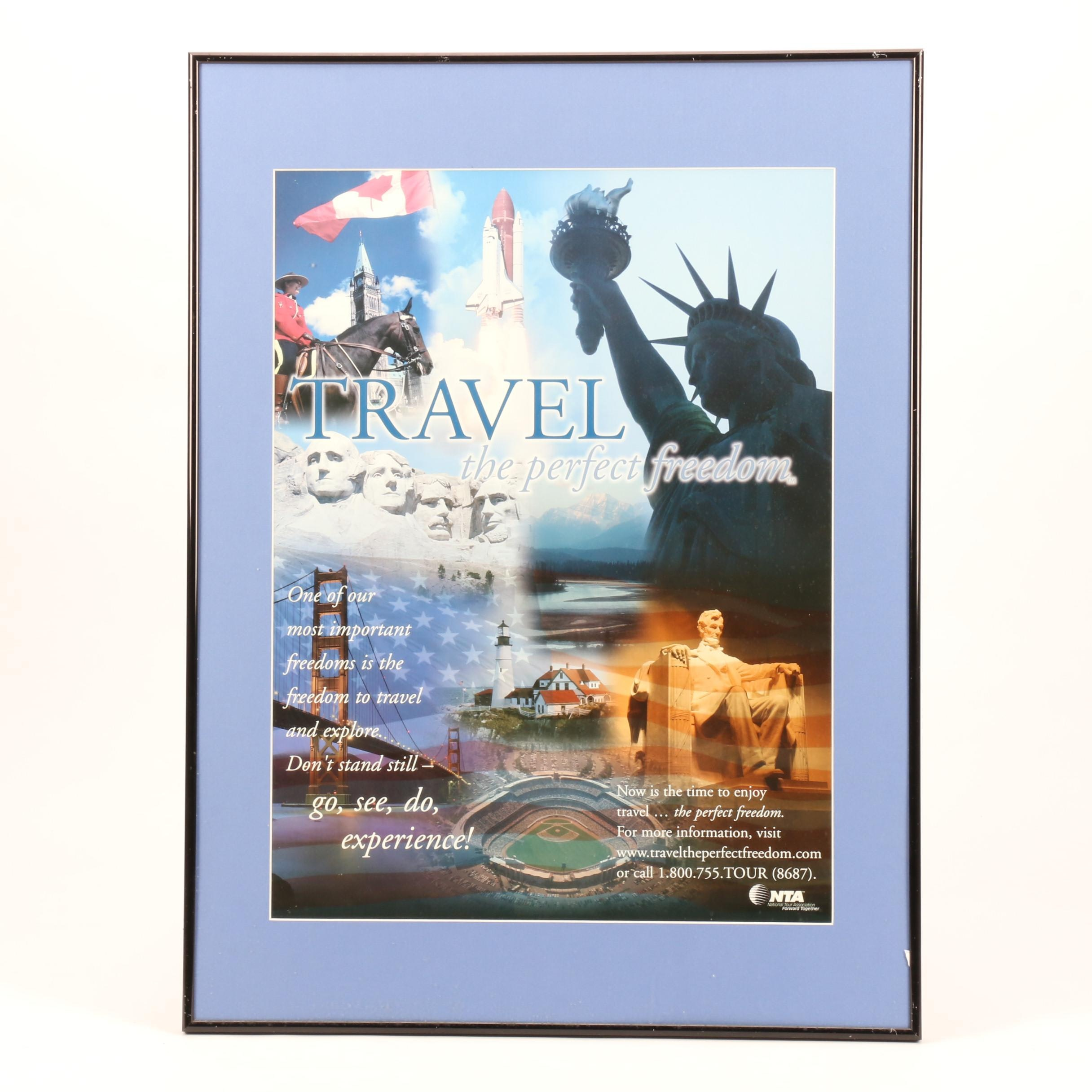 "National Tour Association Poster ""Travel: the Perfect Freedom"""