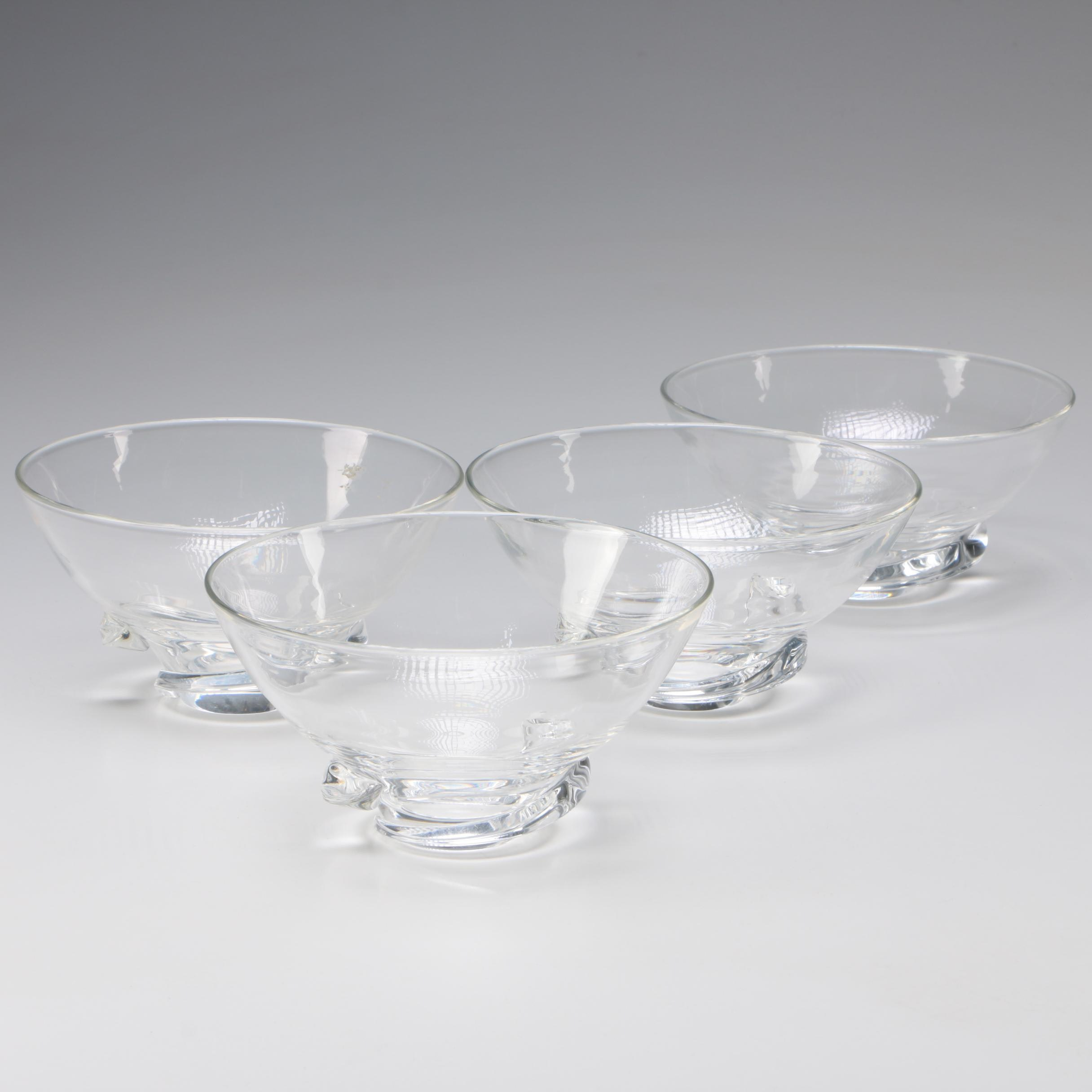 "Steuben ""Spiral"" Art Glass Bowls by Donald Pollard, After 1954"