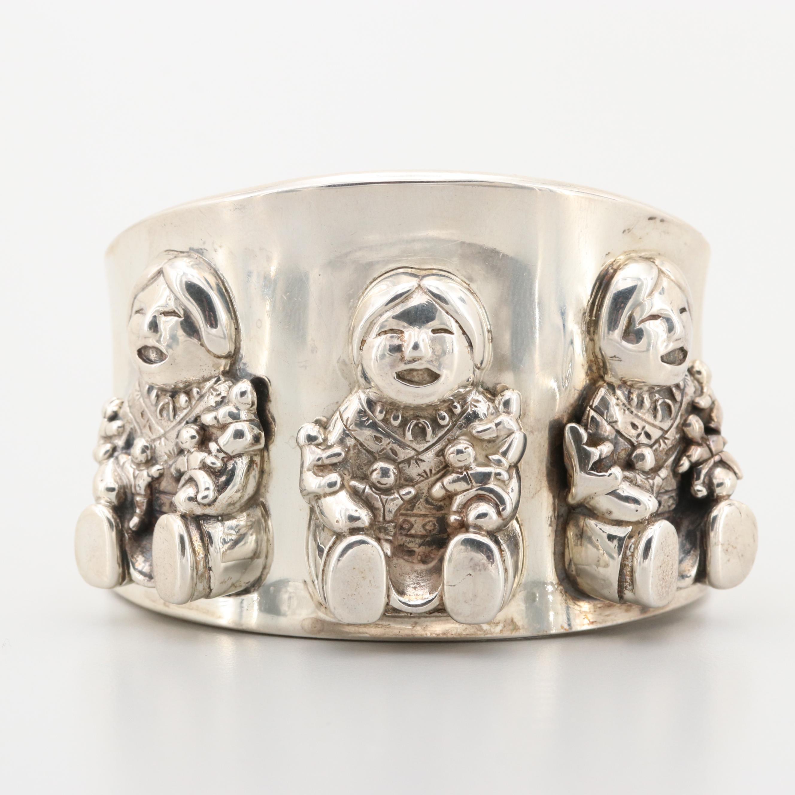 Sunrise Sterling Silver Cuff Bracelet