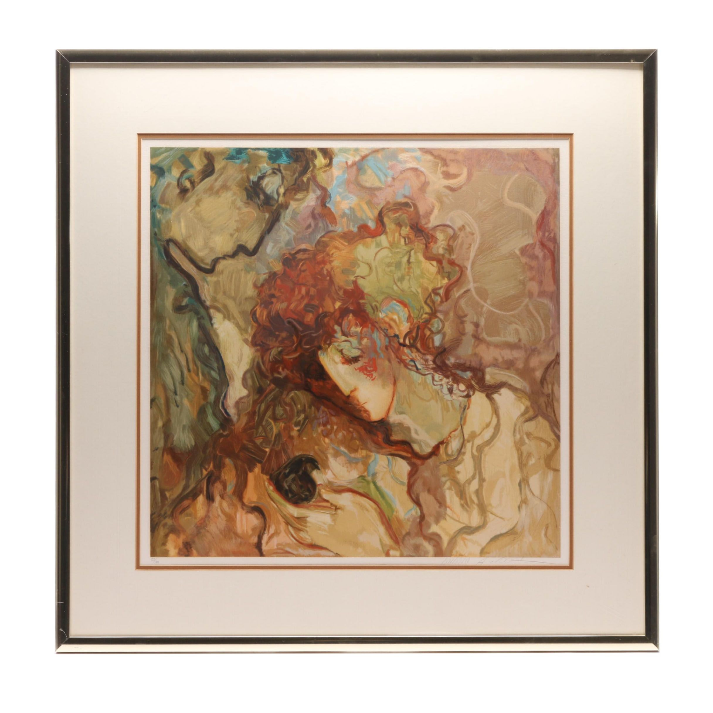 "Barbara Wood Limited Edition Serigraph ""Little Bird"""