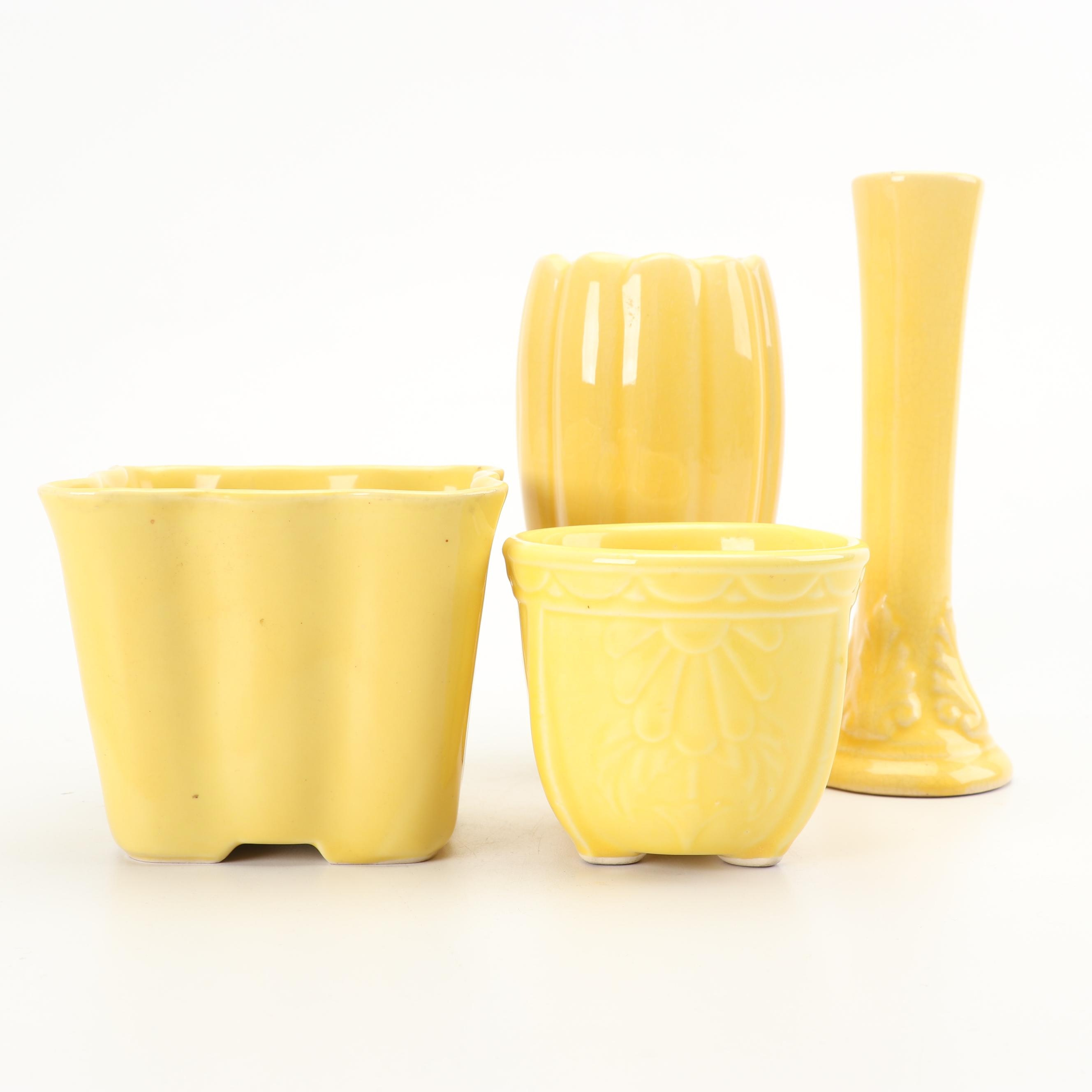 McCoy Bud Vase with Vase and Planters, Mid-Century