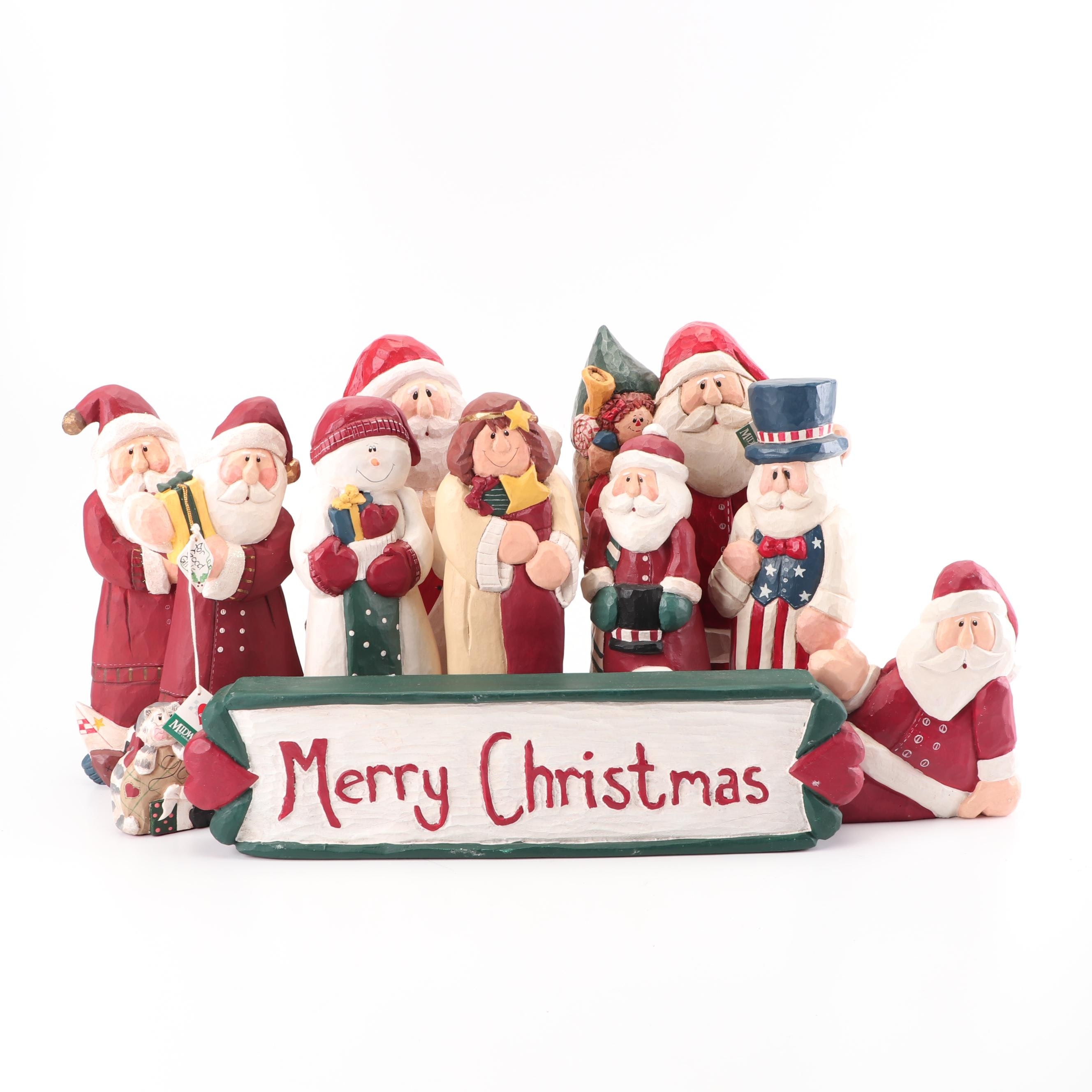 Midwest of Cannon Falls Christmas Figurines and Sign