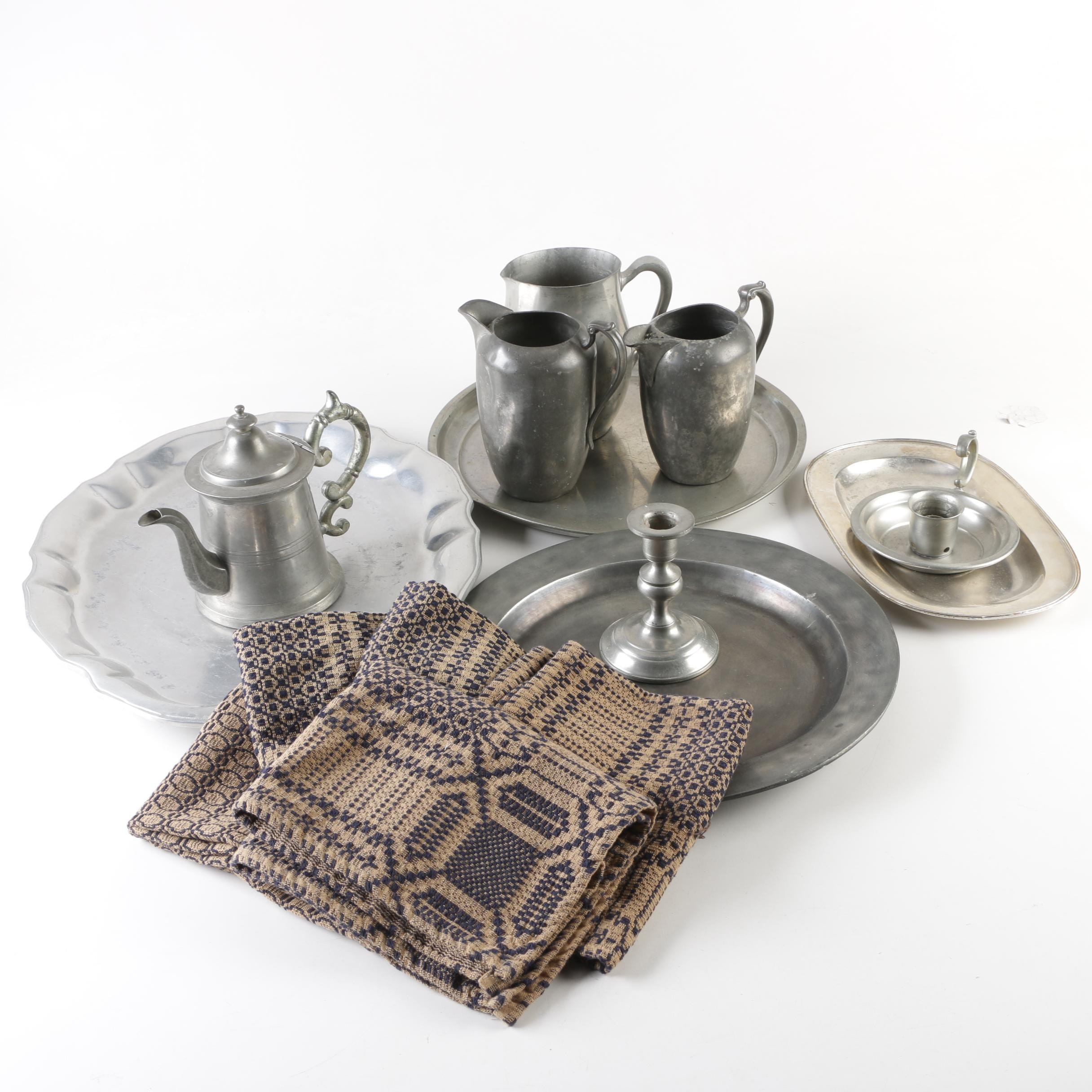 Pewter and Metal Tableware featuring Woodbury Pewterers and Wilton, Mid-Century