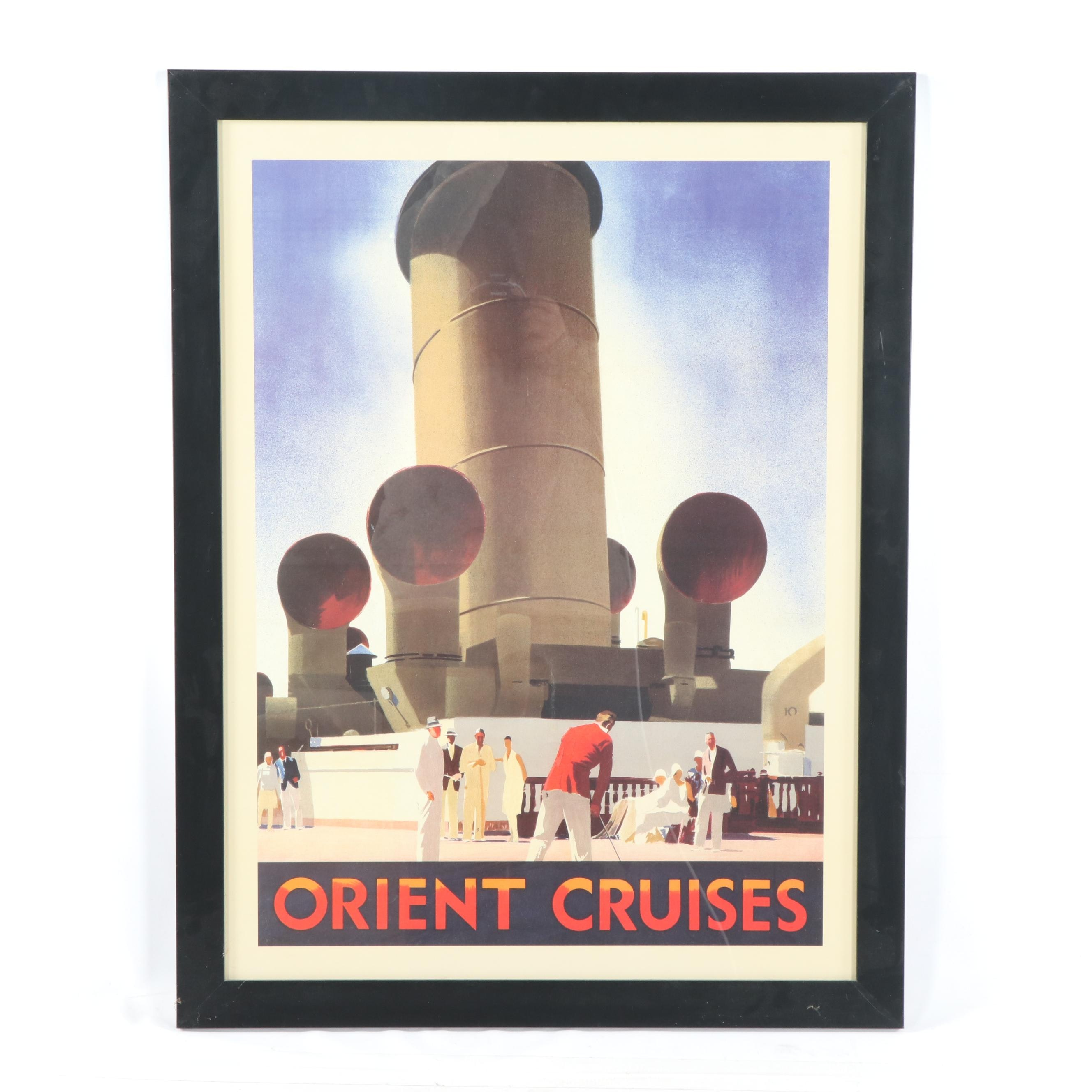 Orient Cruises Poster after Andrew Johnson
