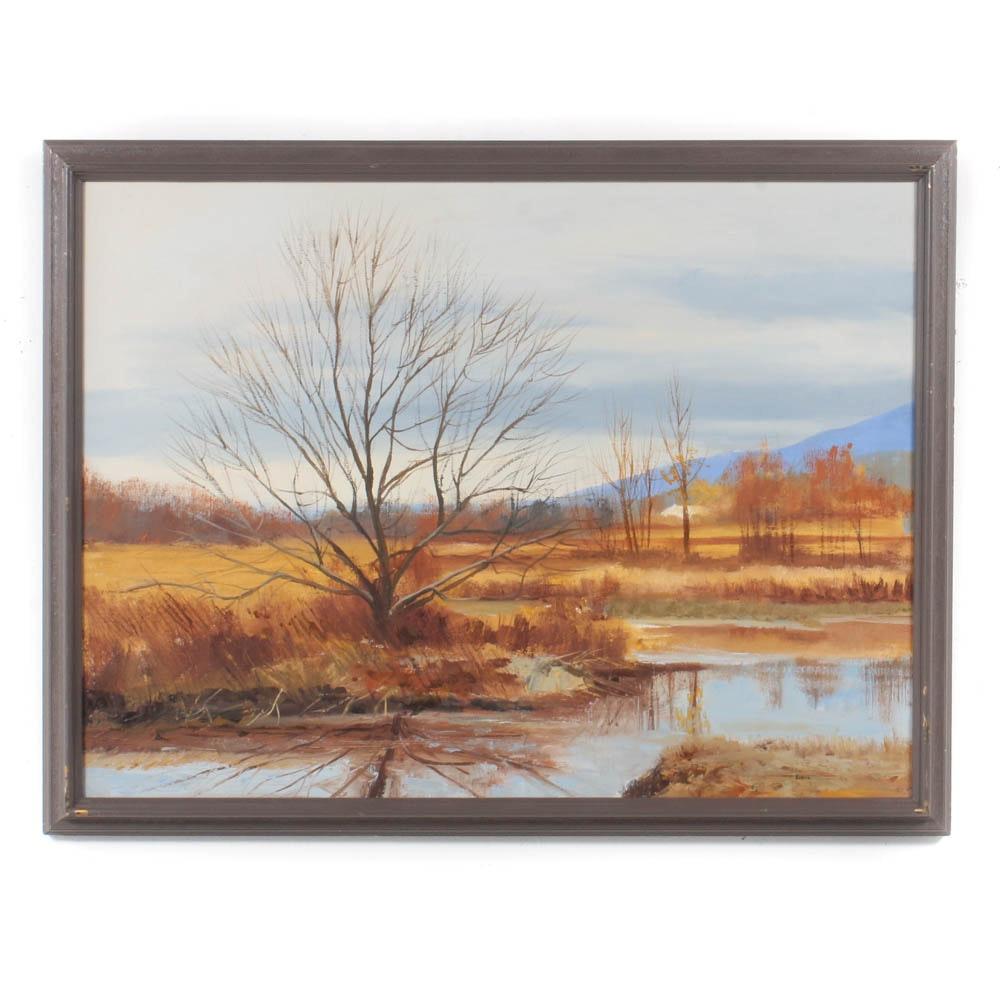 James DeVore Ohio Landscape Oil Painting