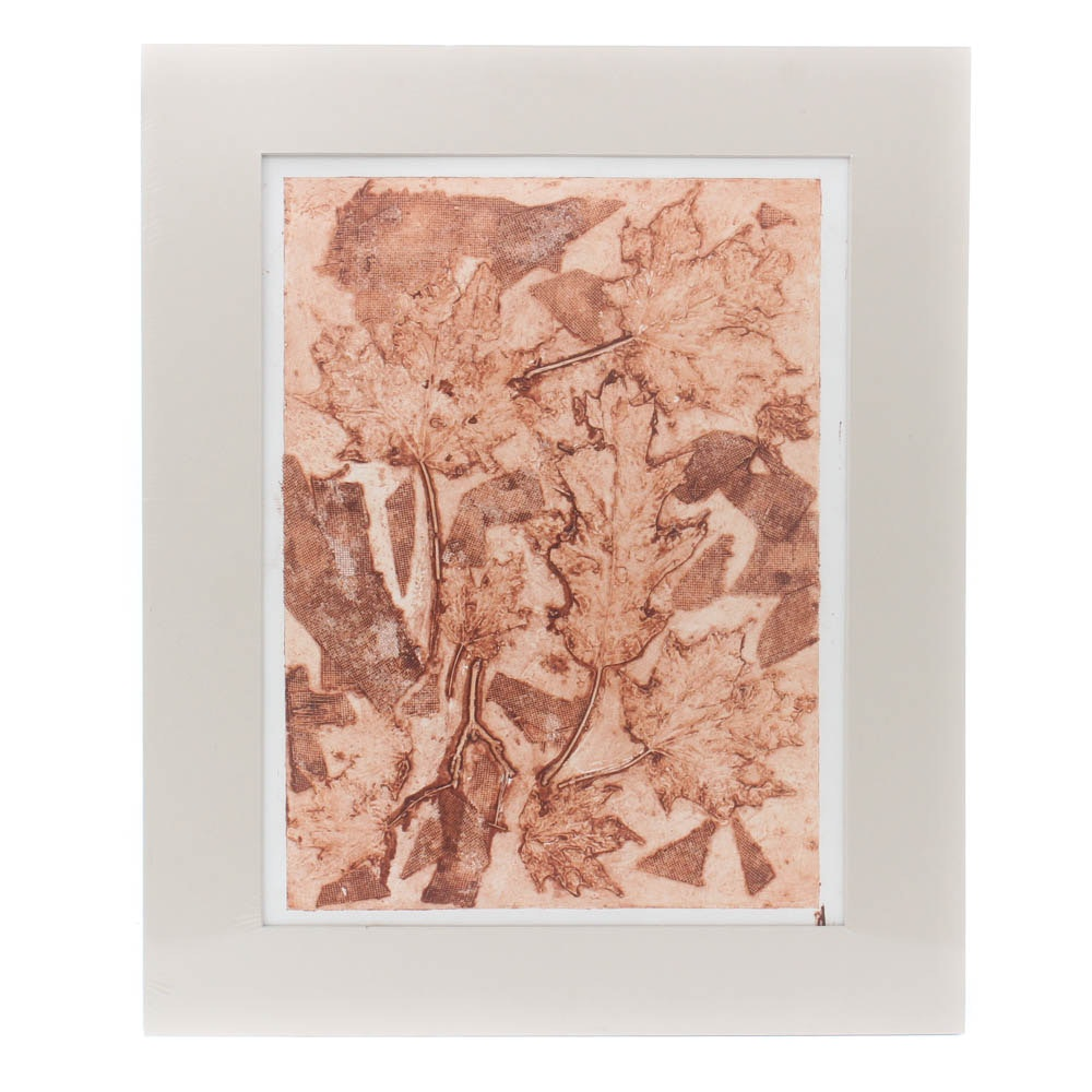 Abstract Embossed Intaglio Print