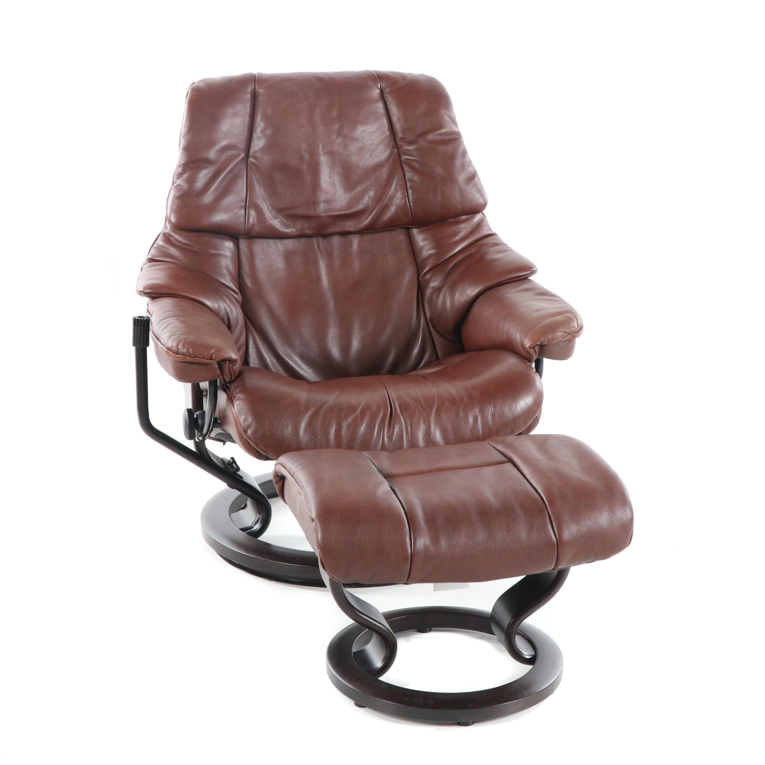 "Ekornes Stressless ""Reno"" Lounge Chair and Ottoman, 21st Century"