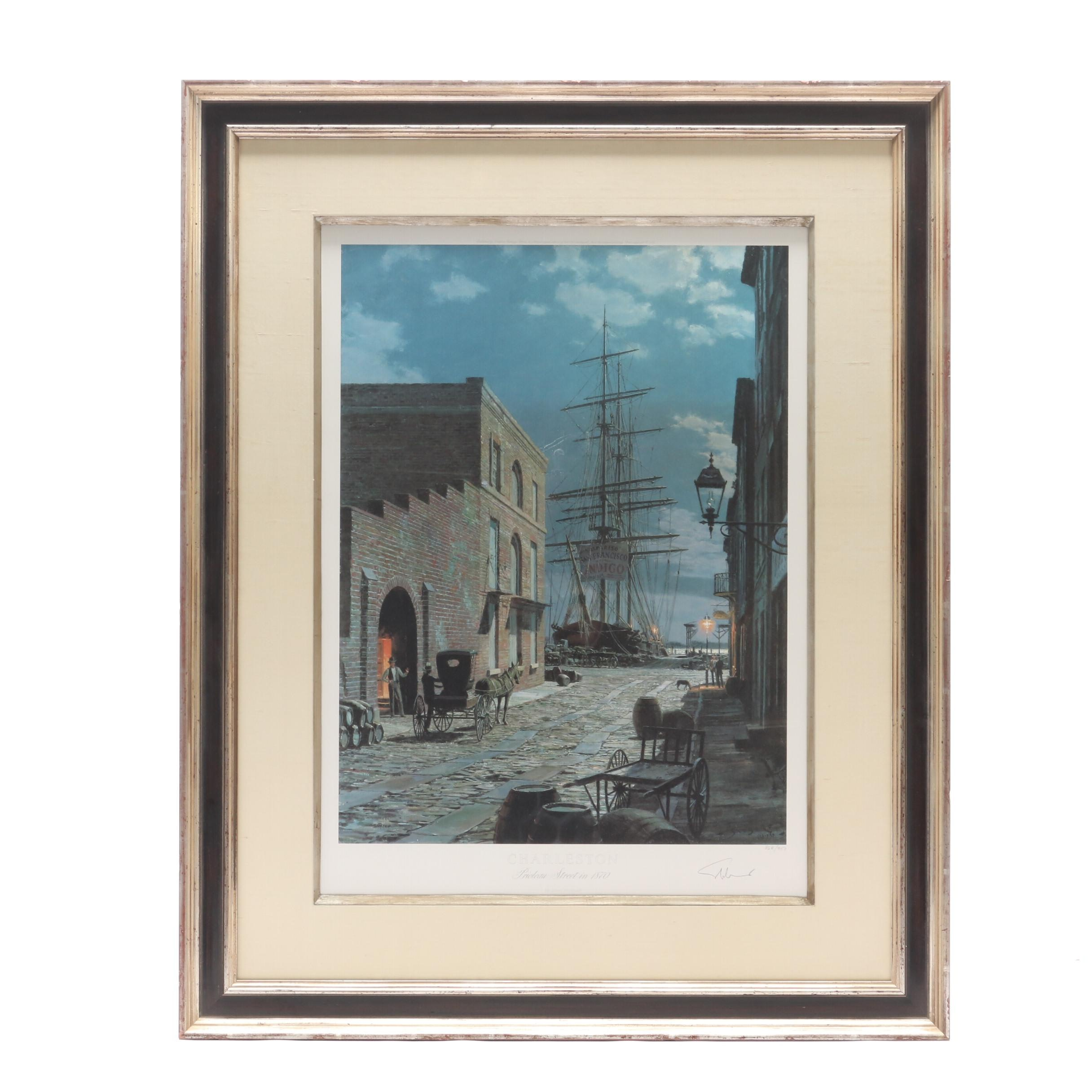 "John Stobart Limited Edition Offset Lithograph ""Charleston"""
