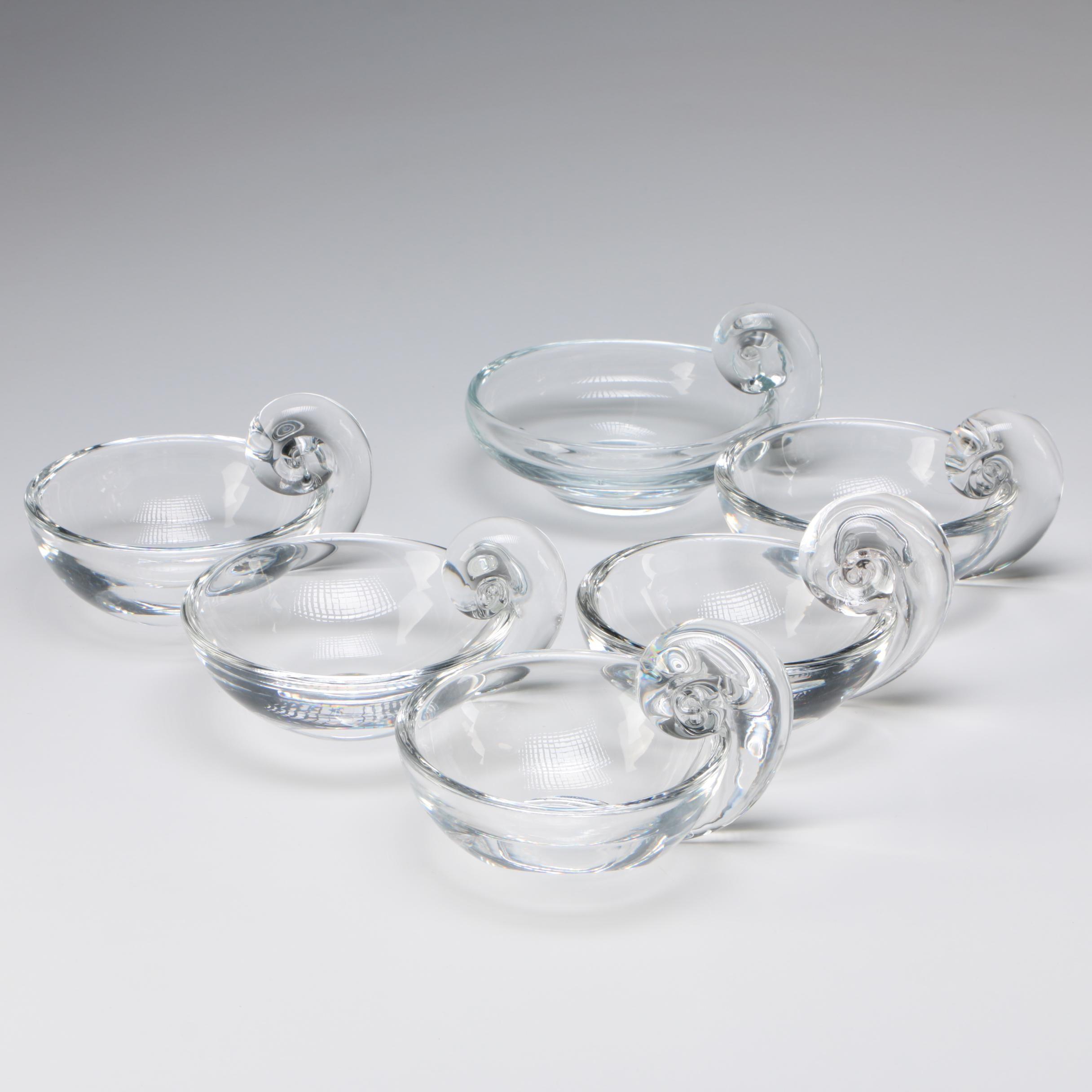 "Steuben Art Glass ""Olive Dishes"" by John Dreves, After 1939"