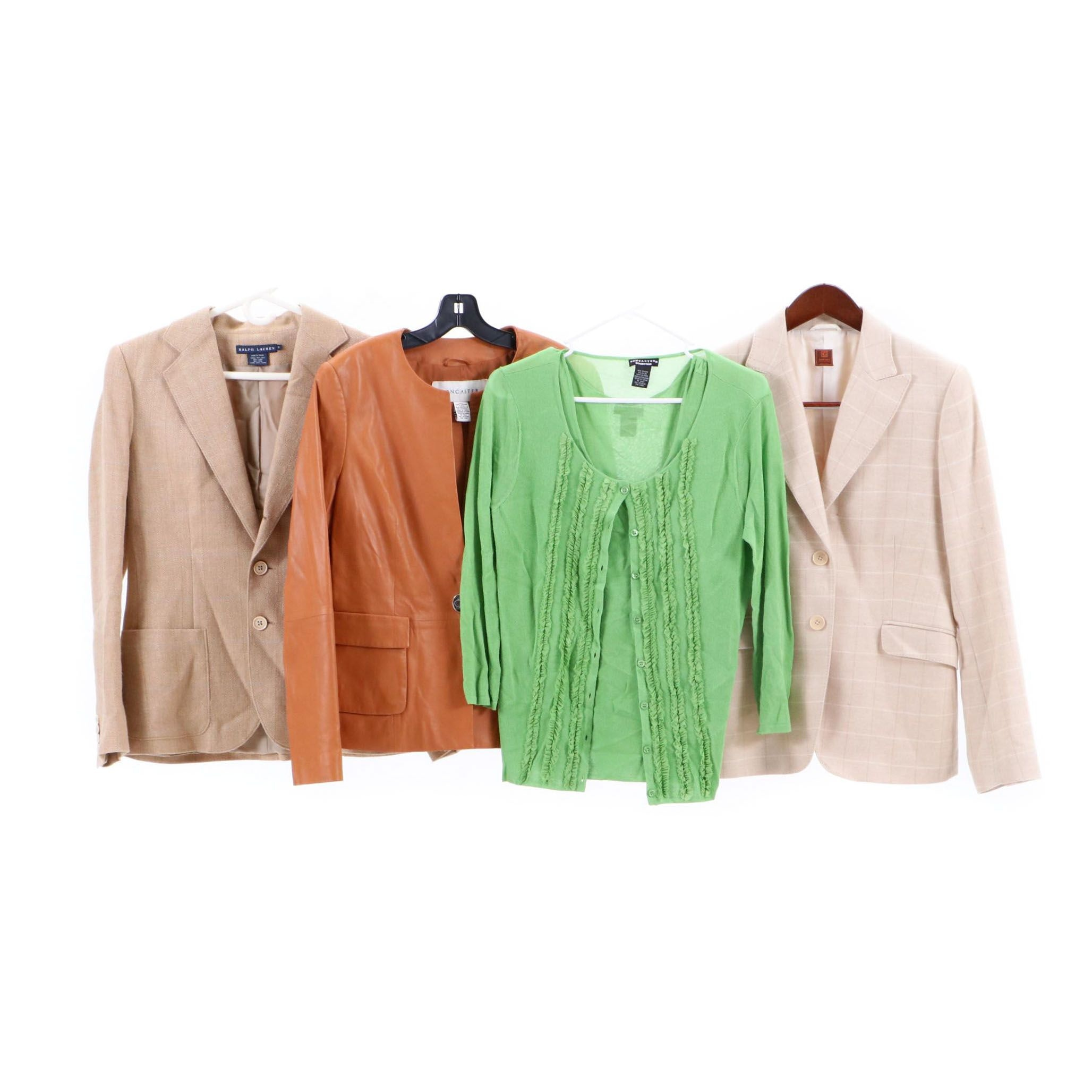 Women's Giorgio's Cashmere Jacket, Doncaster Leather Jacket and Other Separates