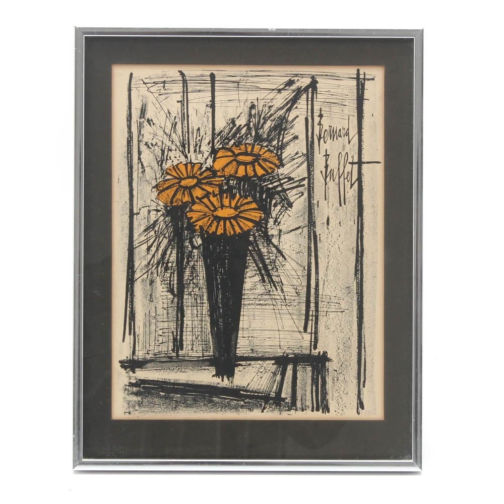 Expressionist Lithograph after Bernard Buffet