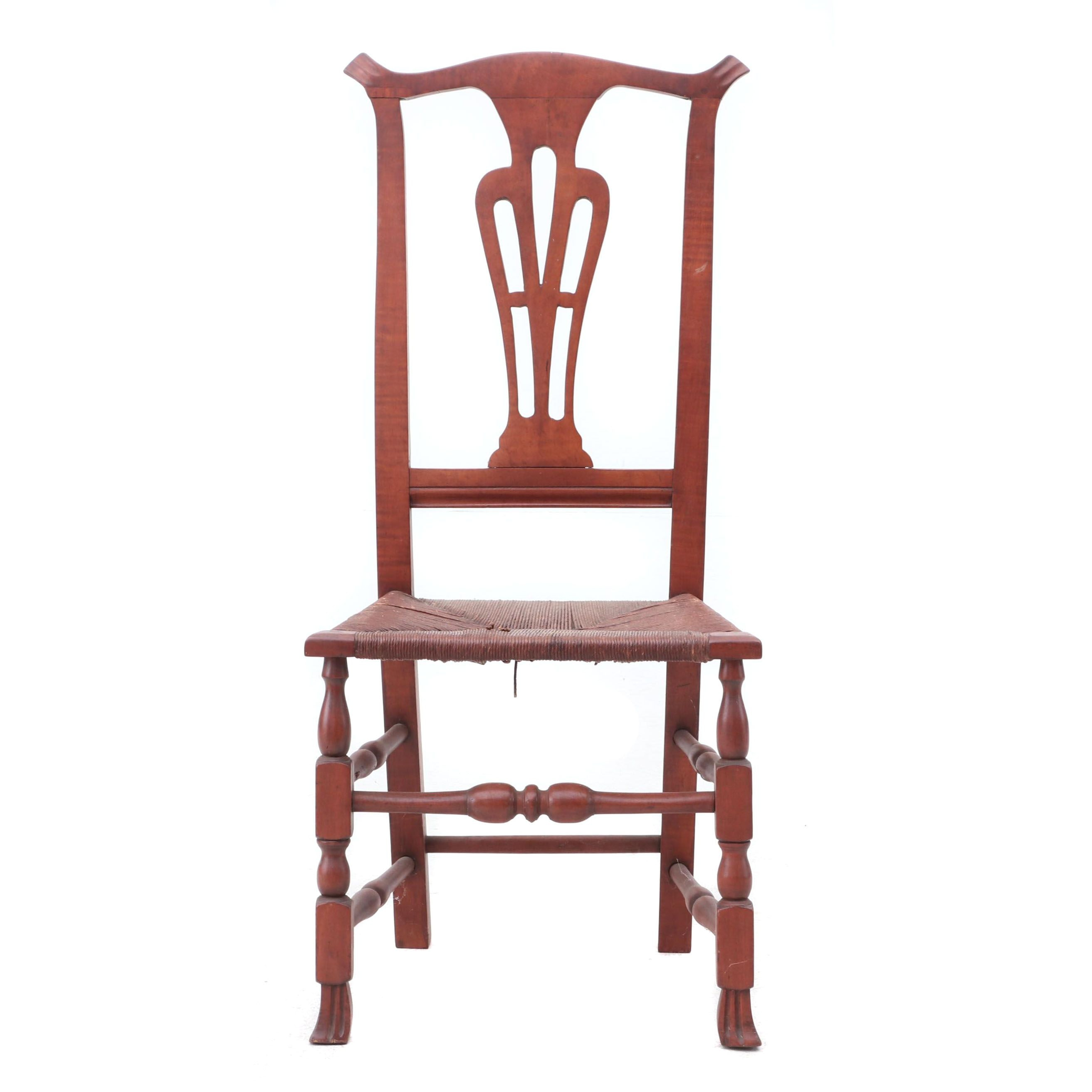 Colonial Revival Rush Seat Side Chair