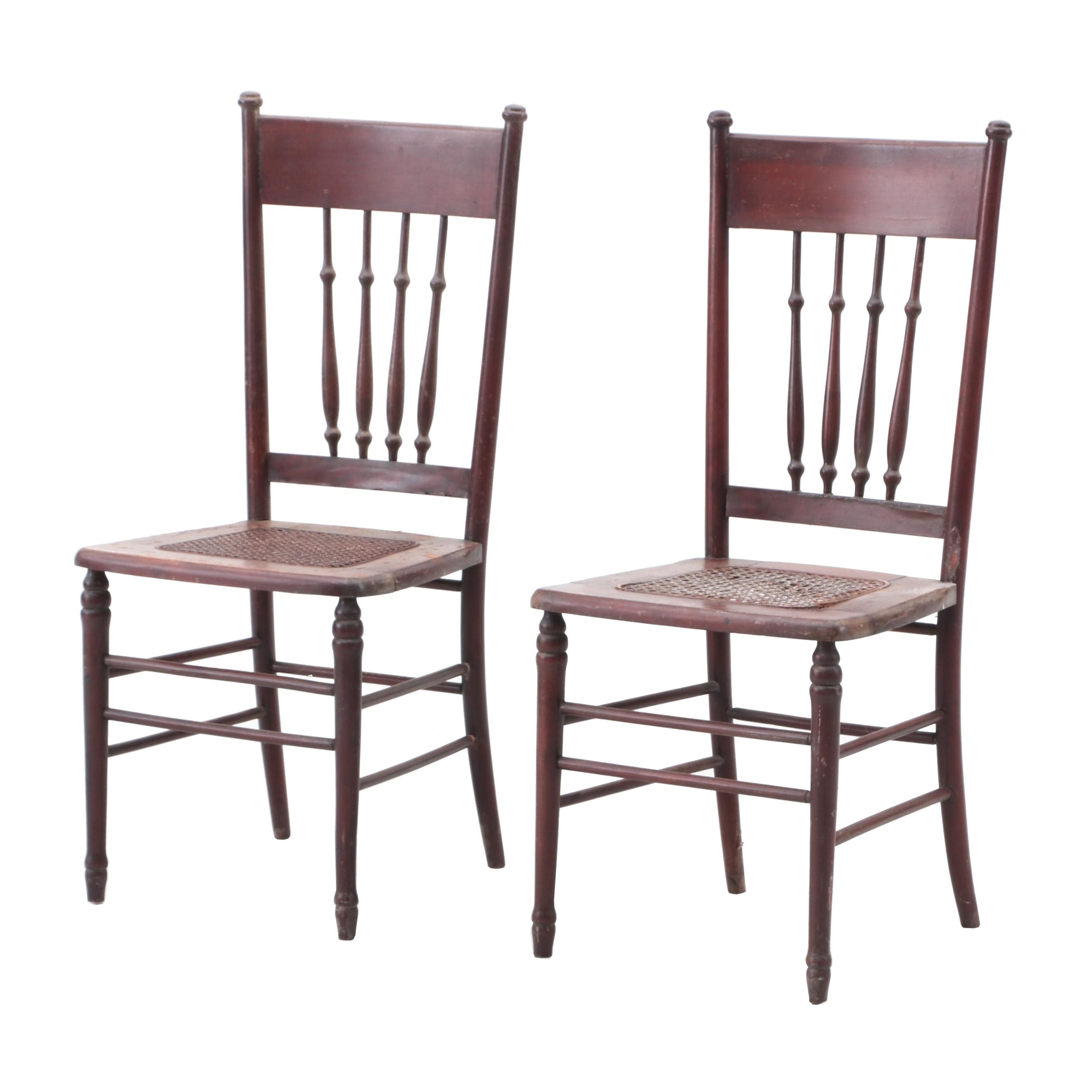 1890s Caned Side Chairs