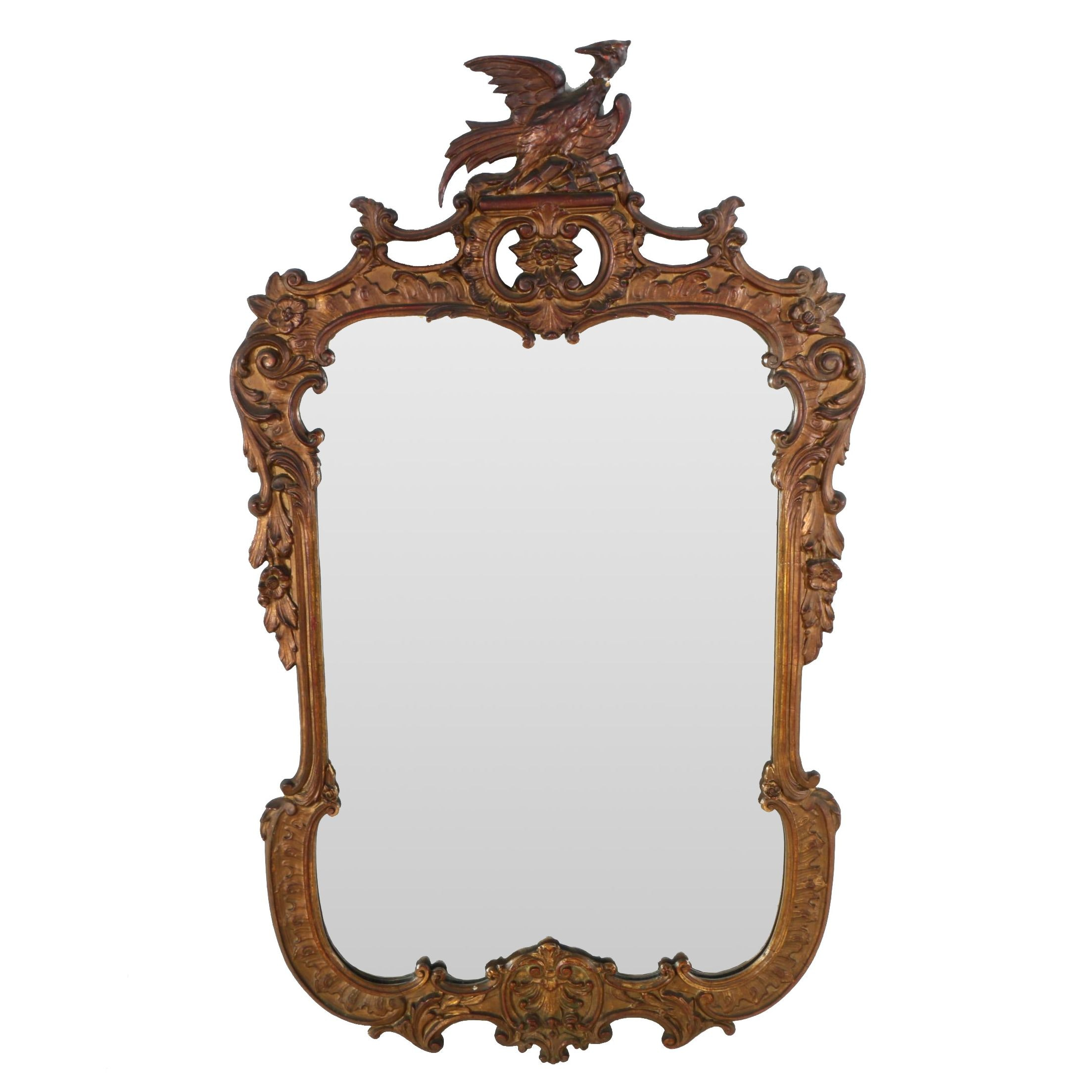 George III Style Giltwood Mirror, Late 19th/Early 20th Century